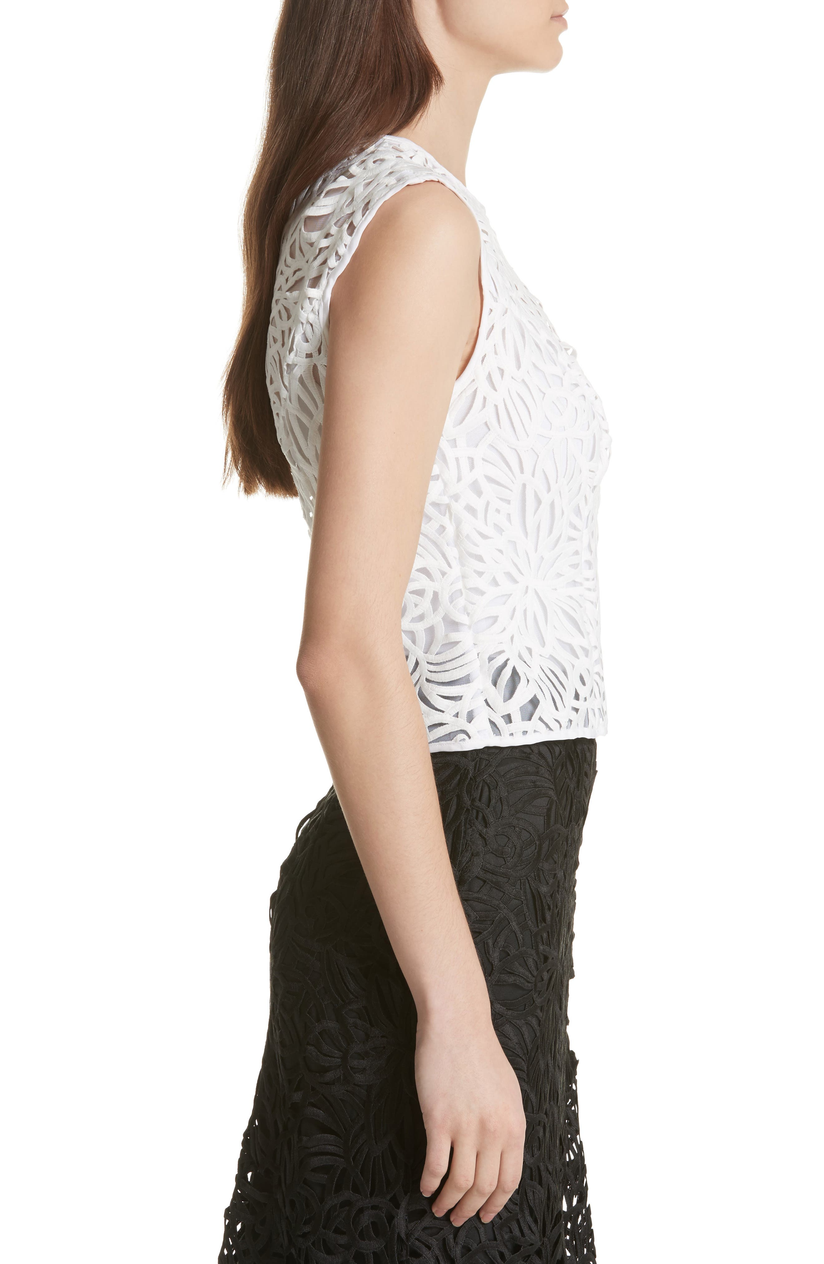 Irena Lace Top,                             Alternate thumbnail 3, color,                             White