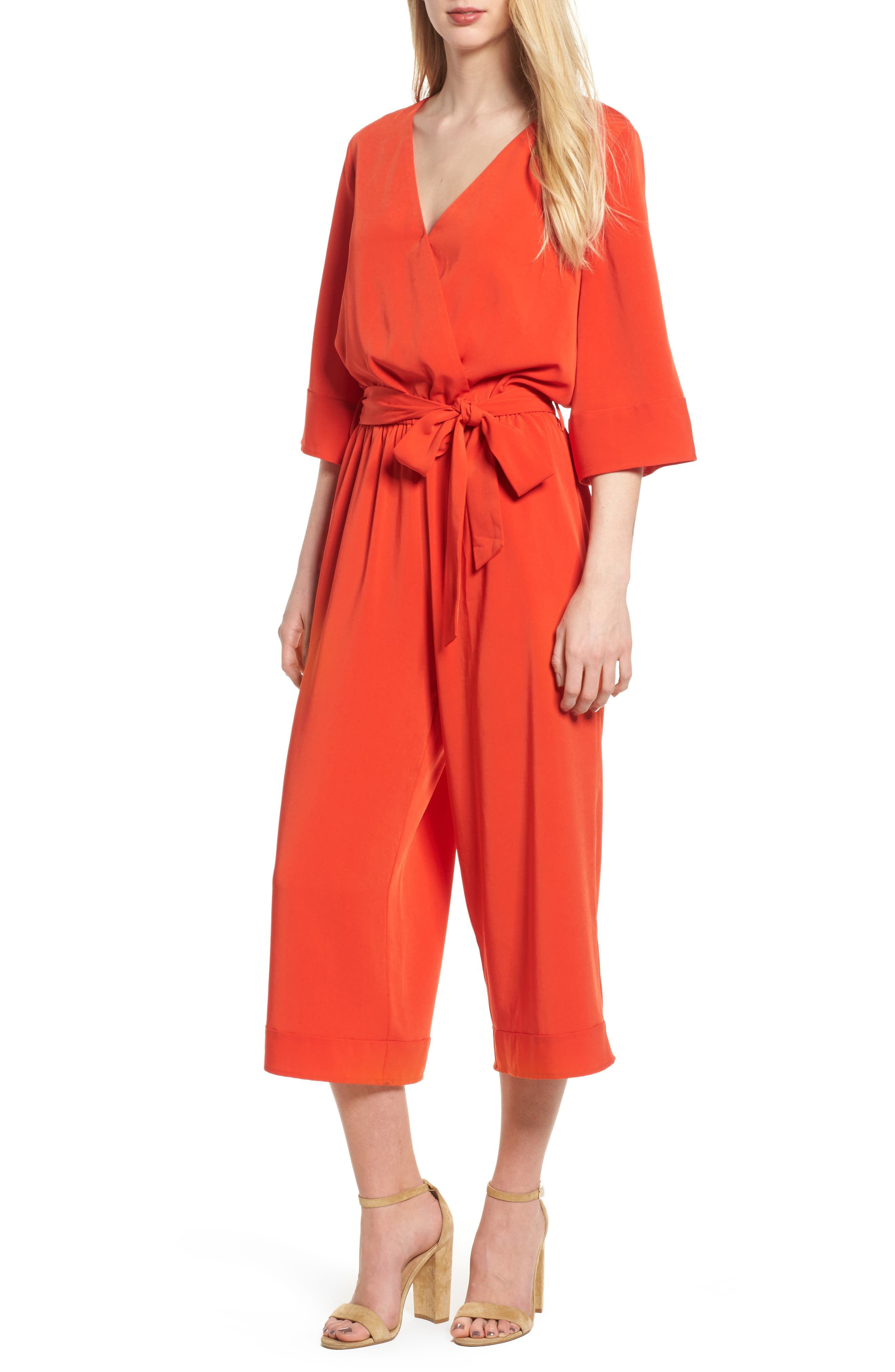 Bishop + Young Yacht Party Romper,                         Main,                         color, Poppy Pop
