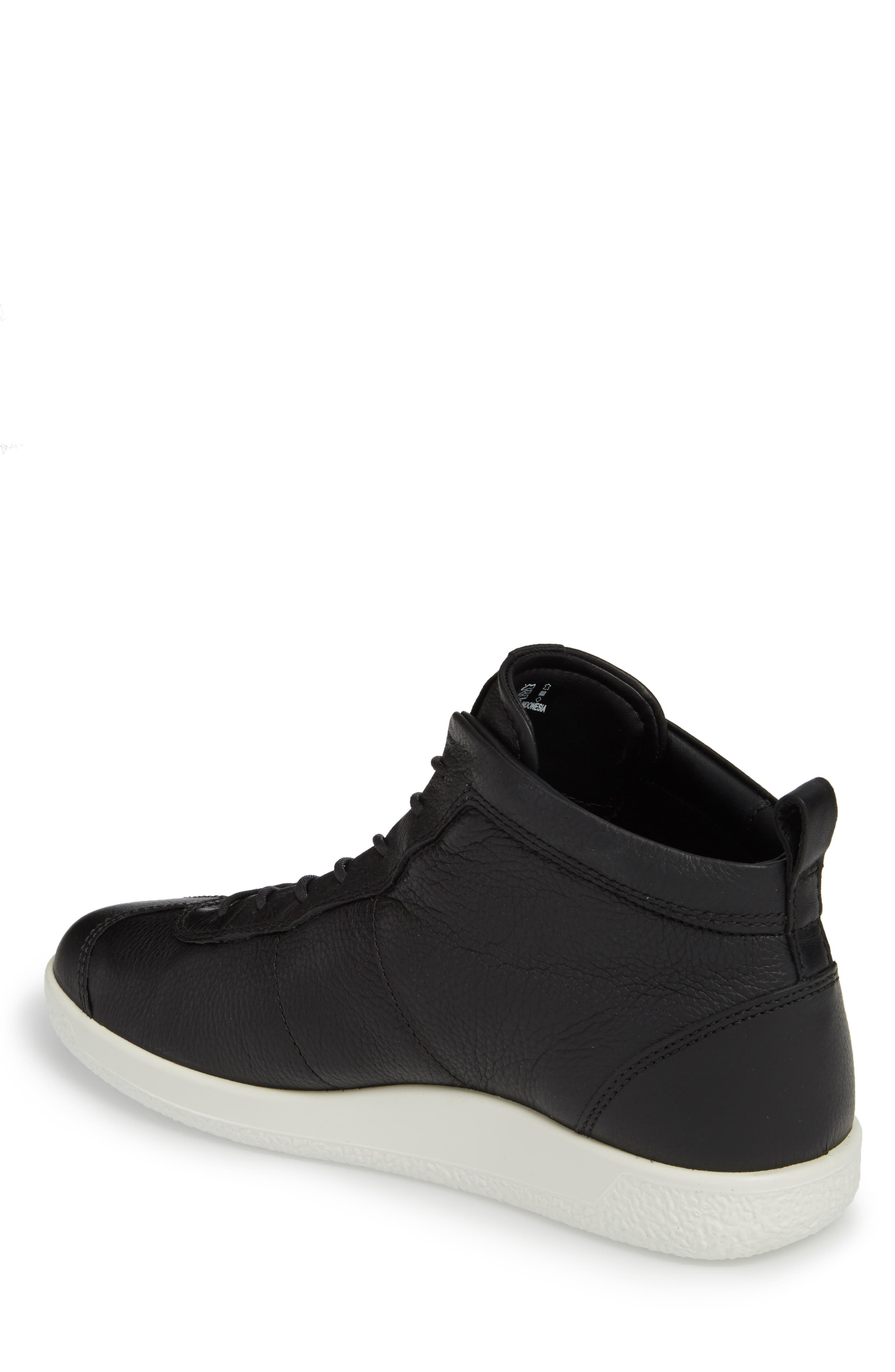 Soft 1 High Top Sneaker,                             Alternate thumbnail 2, color,                             Black Nubuck