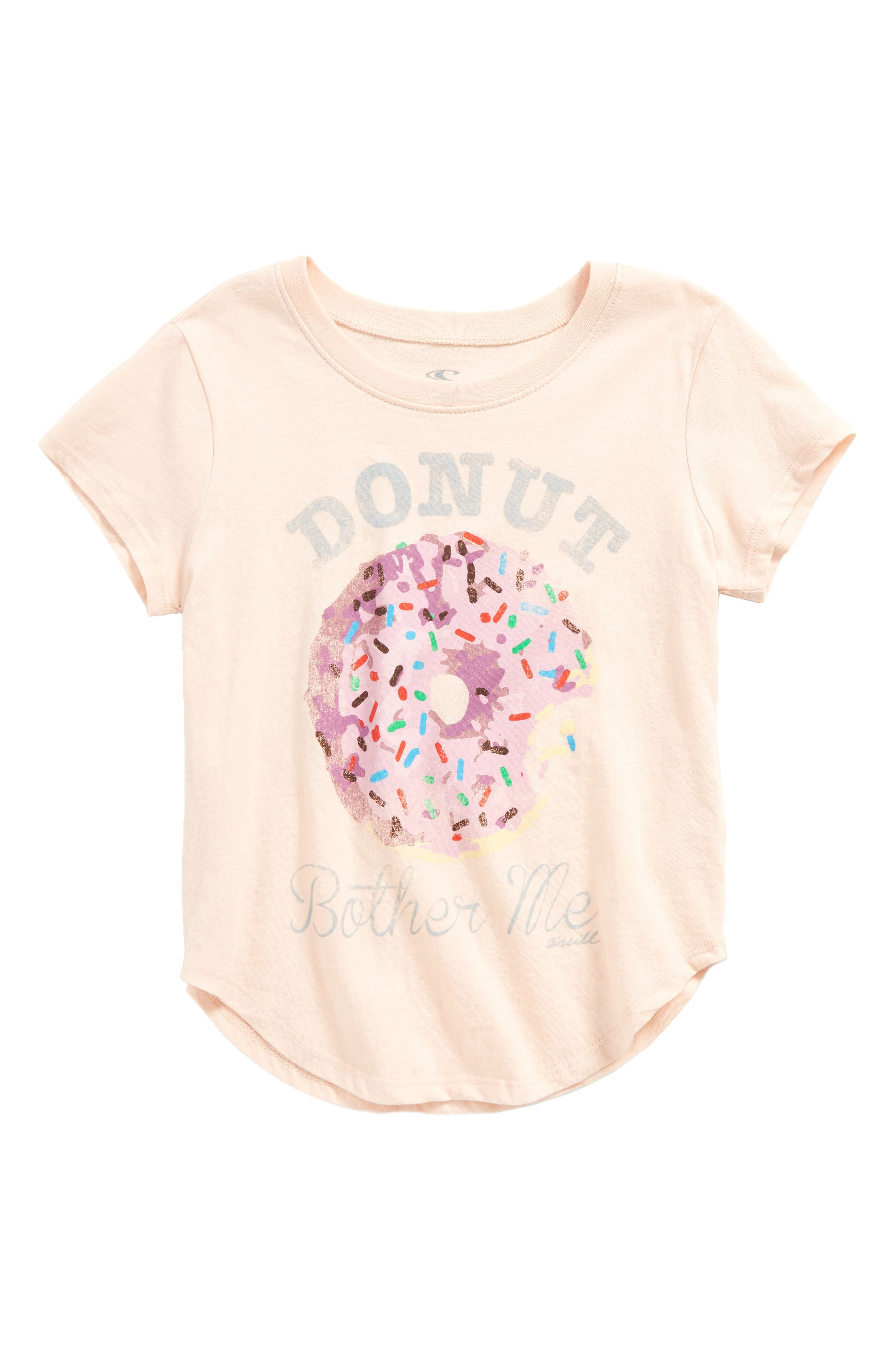 Main Image - O'Neill Donut Bother Me Graphic Tee (Toddler Girls & Little Girls)