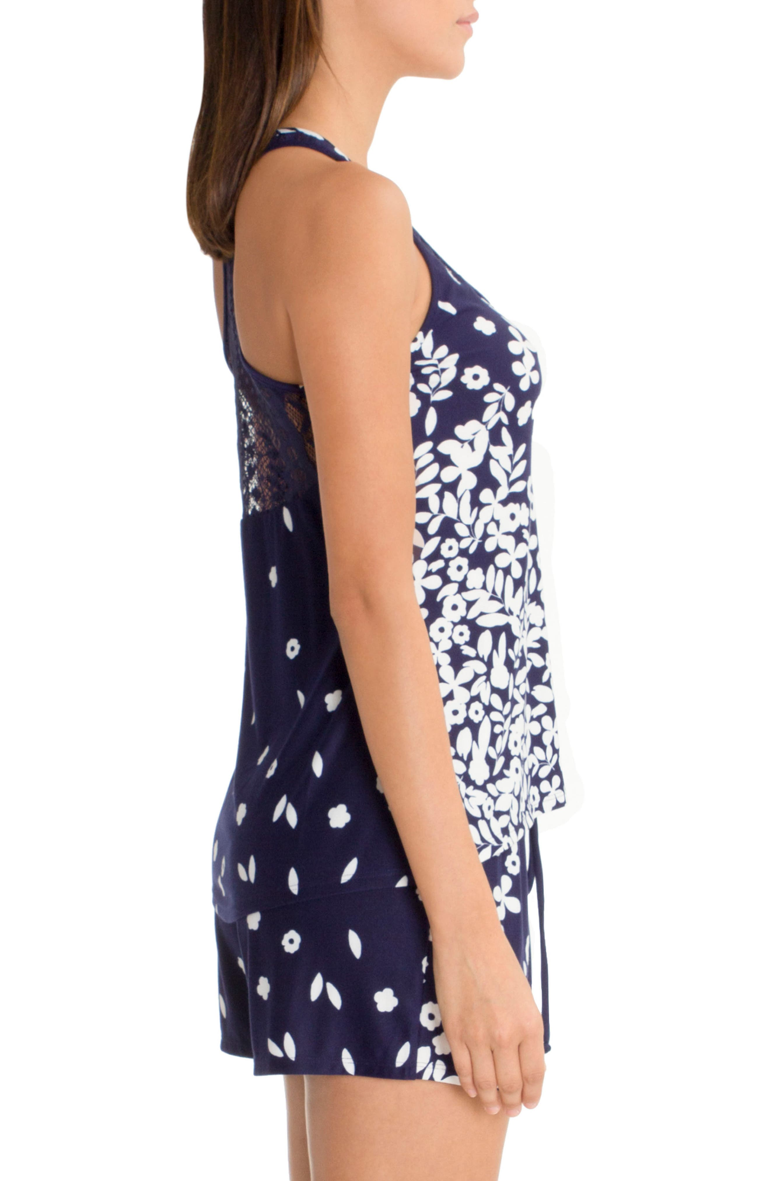 Racerback Camisole,                             Alternate thumbnail 3, color,                             Navy