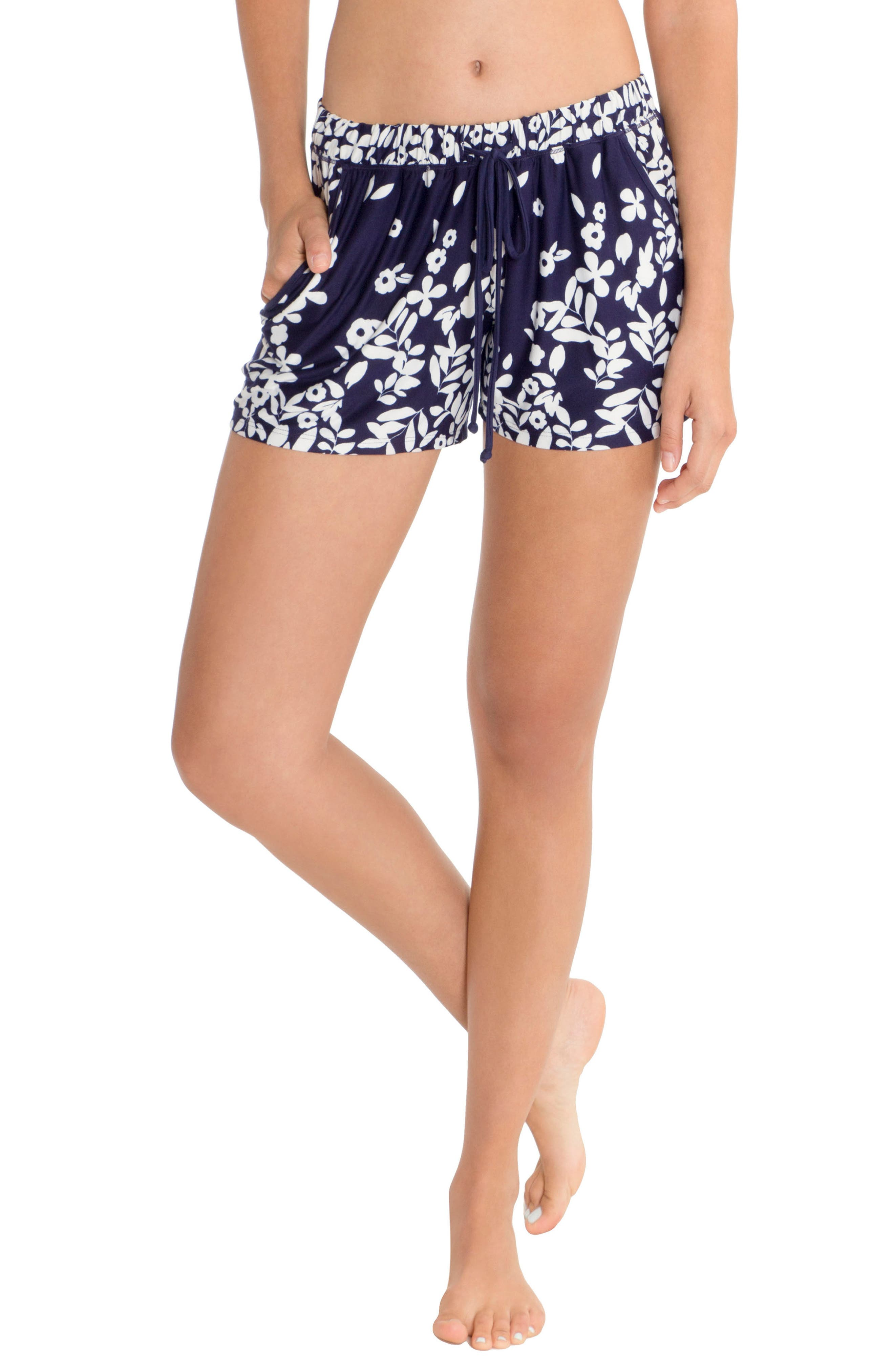 Lounge Shorts,                         Main,                         color, Navy