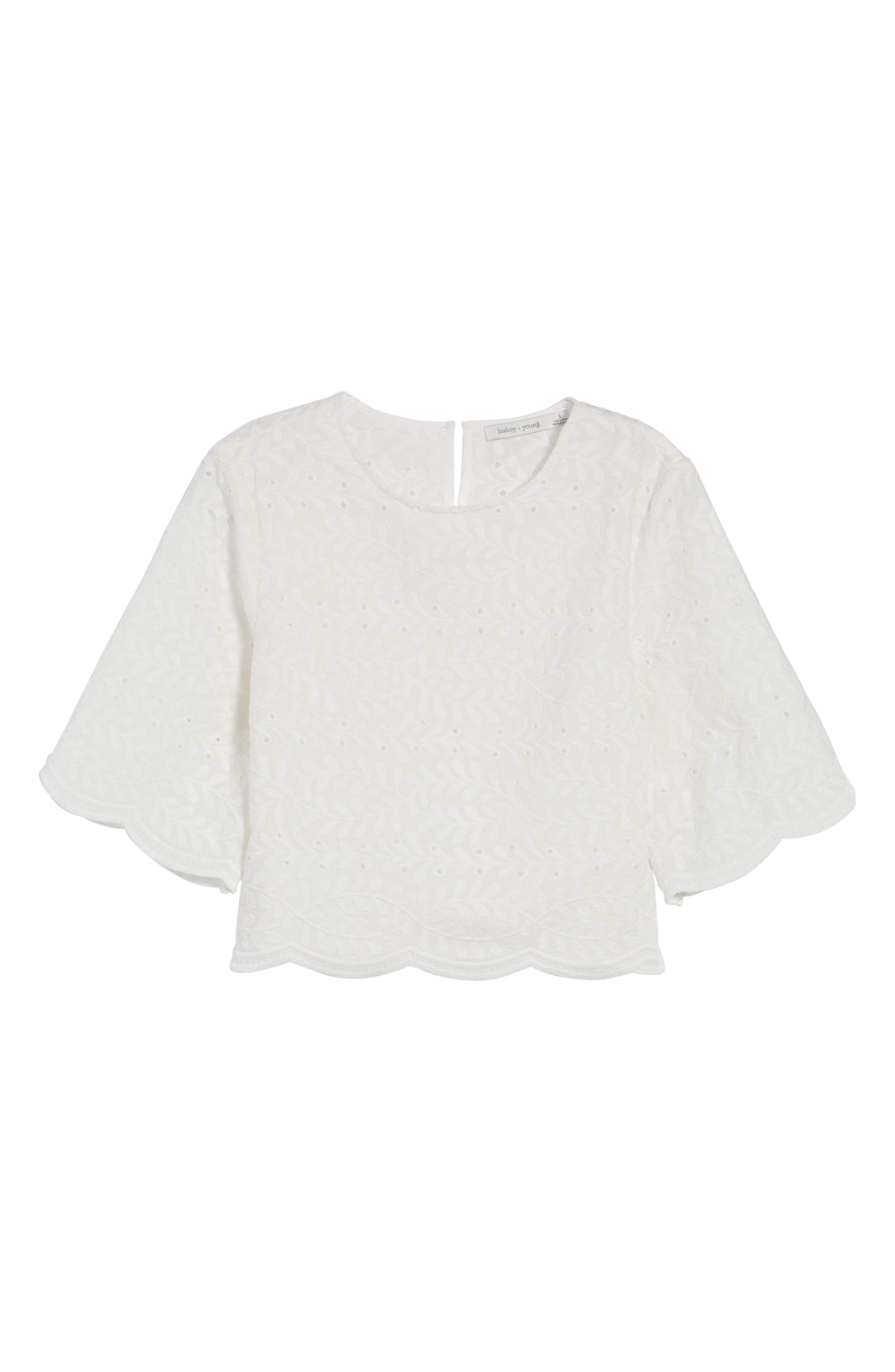 Alternate Image 6  - Bishop + Young Scallop Edge Blouse