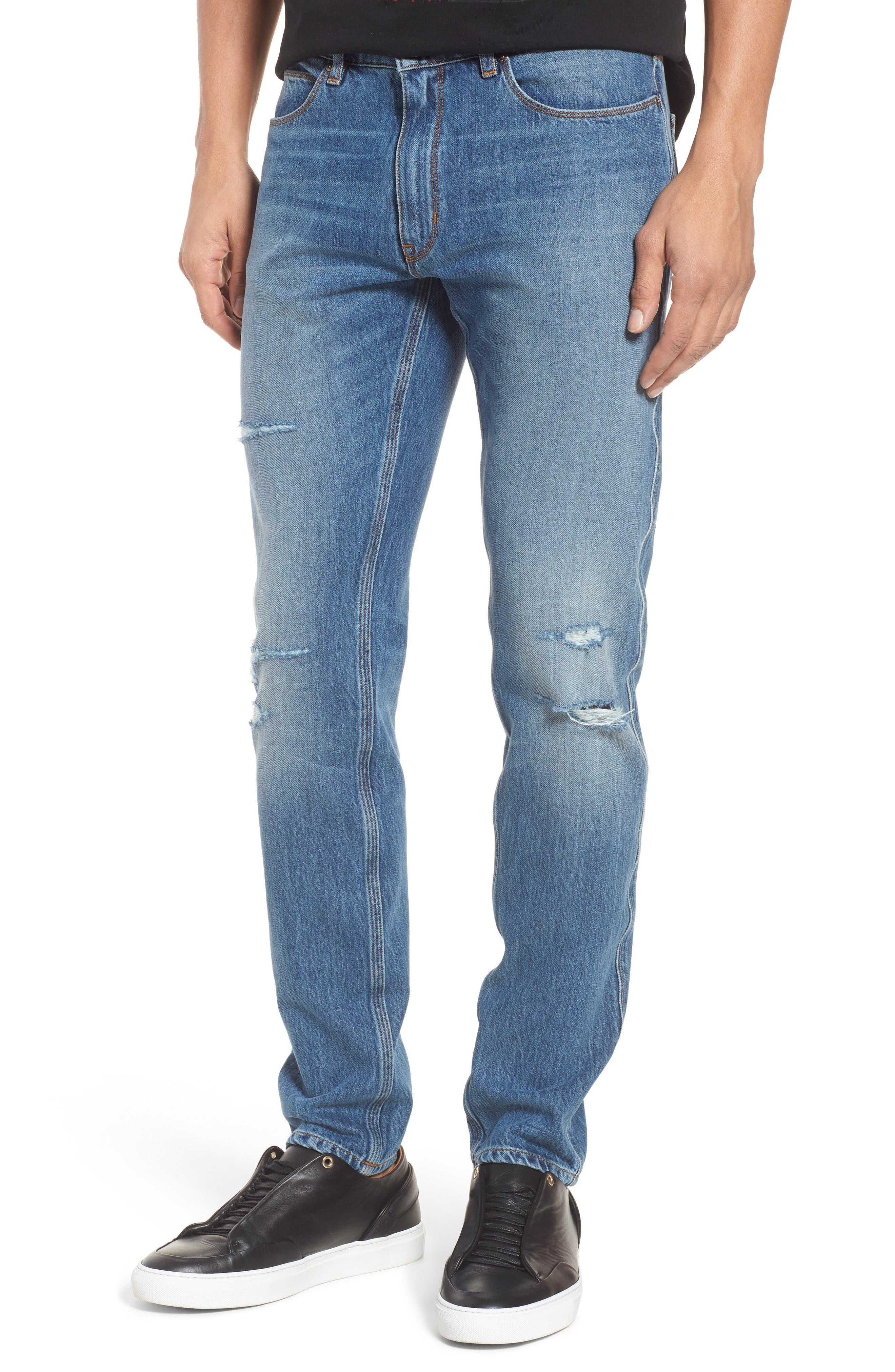 Hugo Boss 734 Distressed Skinny Fit Jeans