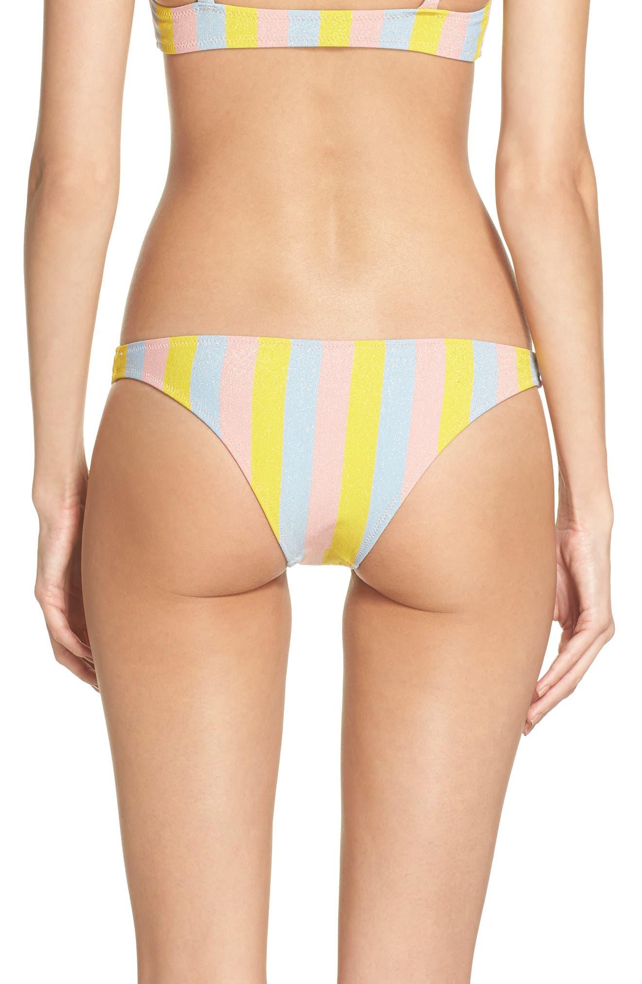 The Rachel Bikini Bottoms,                             Alternate thumbnail 2, color,                             Yellow/ Blue/ Pink
