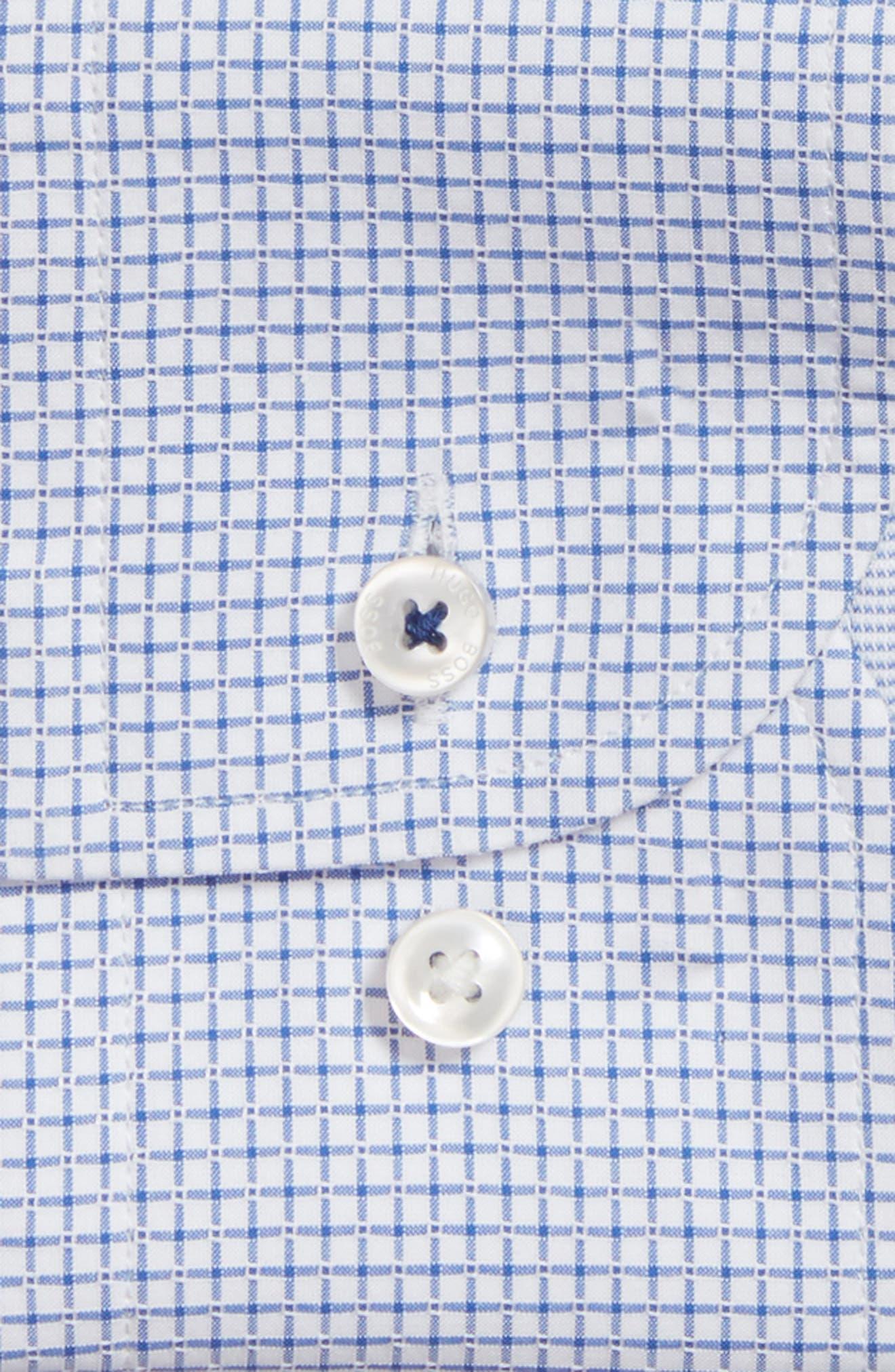 Jesse Slim Fit Check Dress Shirt,                             Alternate thumbnail 5, color,                             Blue