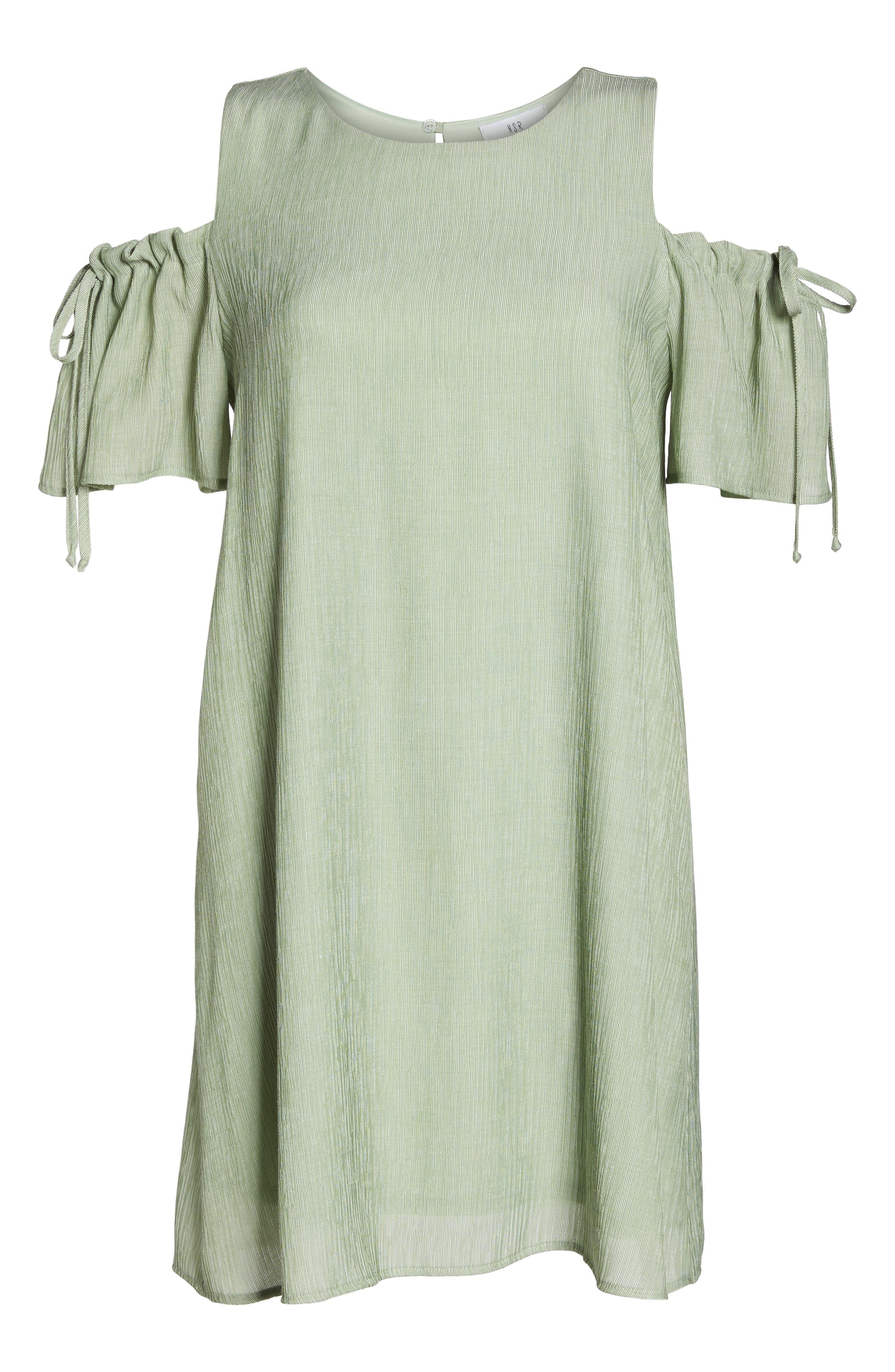 Alternate Image 6  - NSR Cold Shoulder Shift Dress
