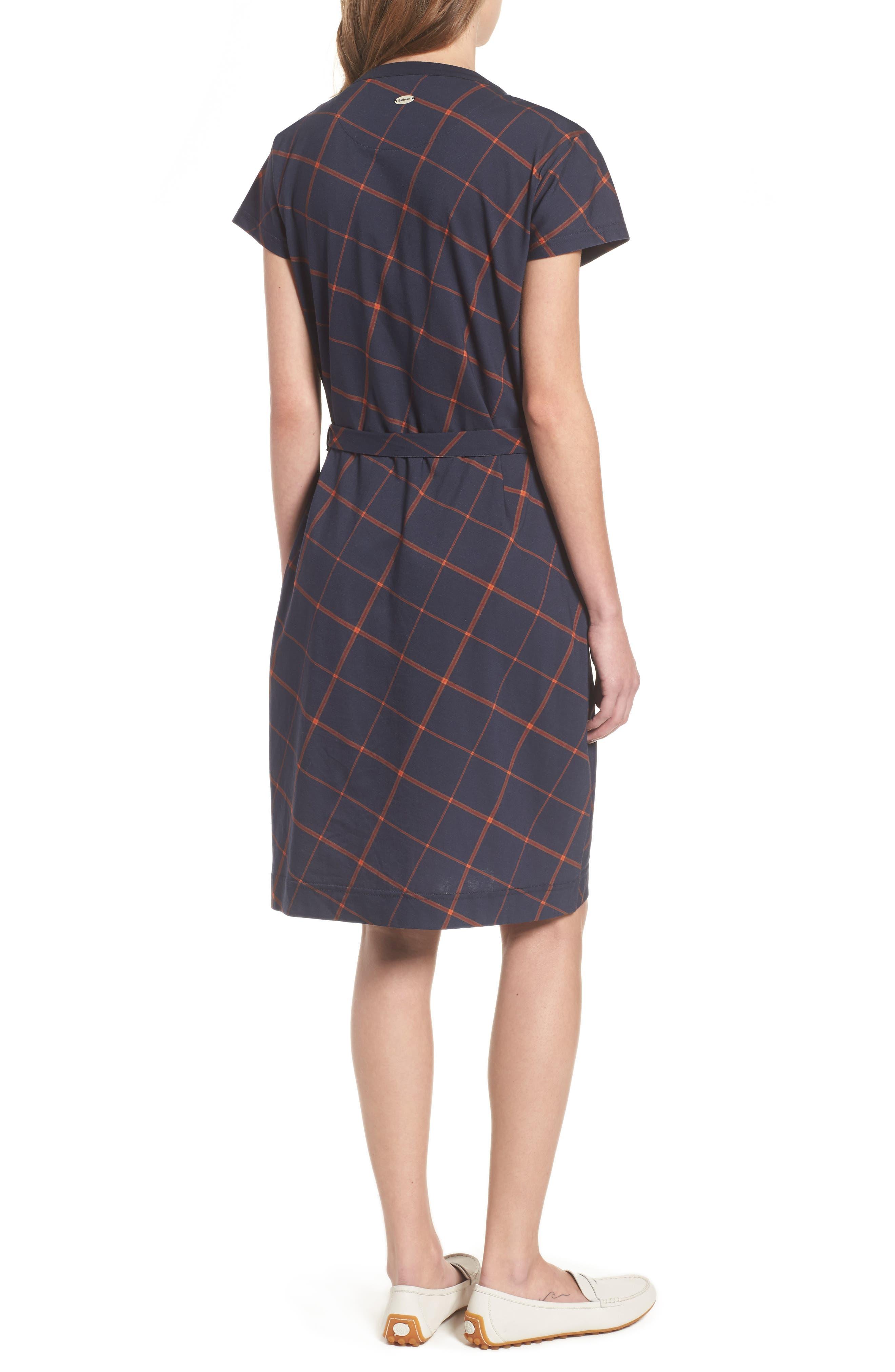 Glenrothes Windowpane Plaid Dress,                             Alternate thumbnail 2, color,                             Navy Check