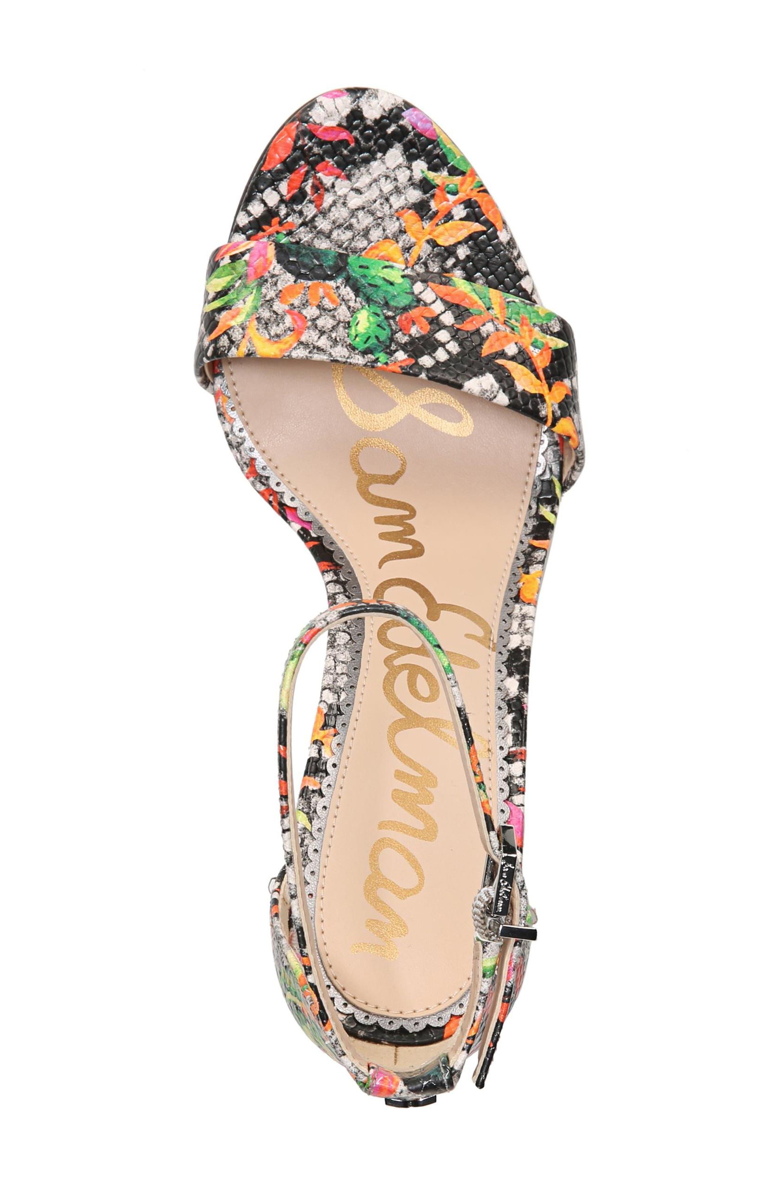 Yaro Ankle Strap Sandal,                             Alternate thumbnail 6, color,                             Bright Multi Print