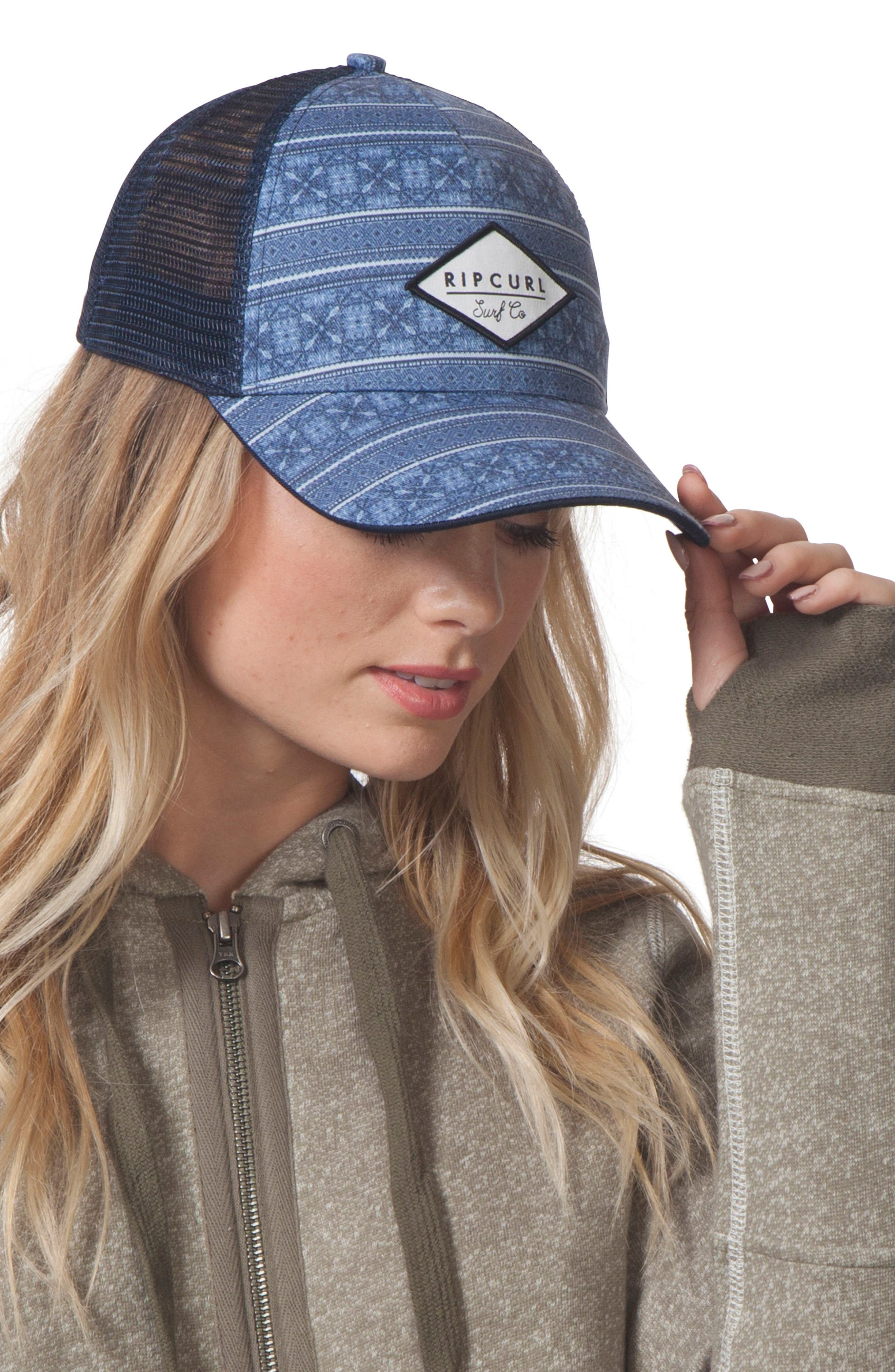 Southeast Swell Trucker Hat,                             Main thumbnail 1, color,                             Navy