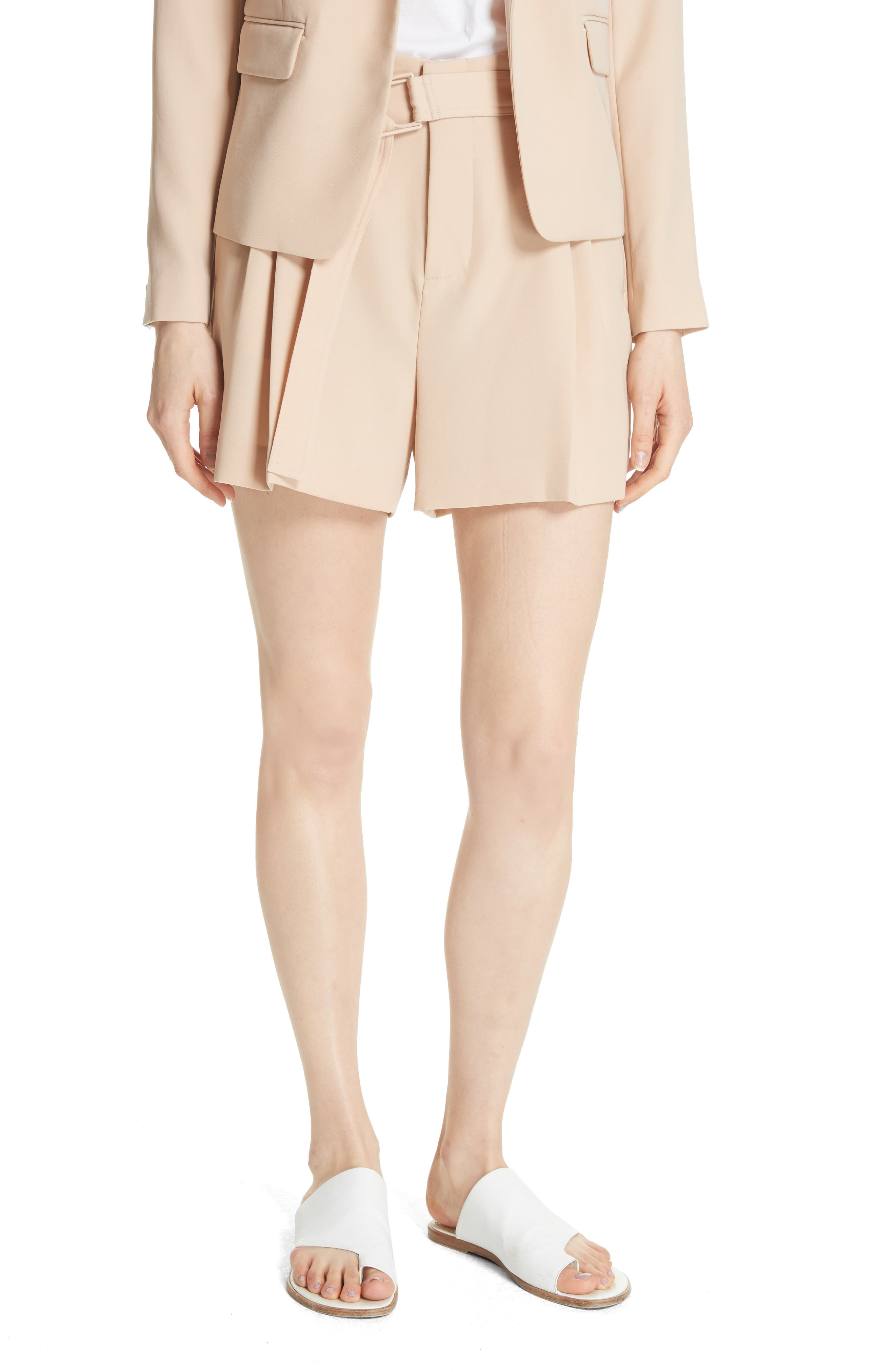 Belted Shorts,                             Main thumbnail 1, color,                             Praline