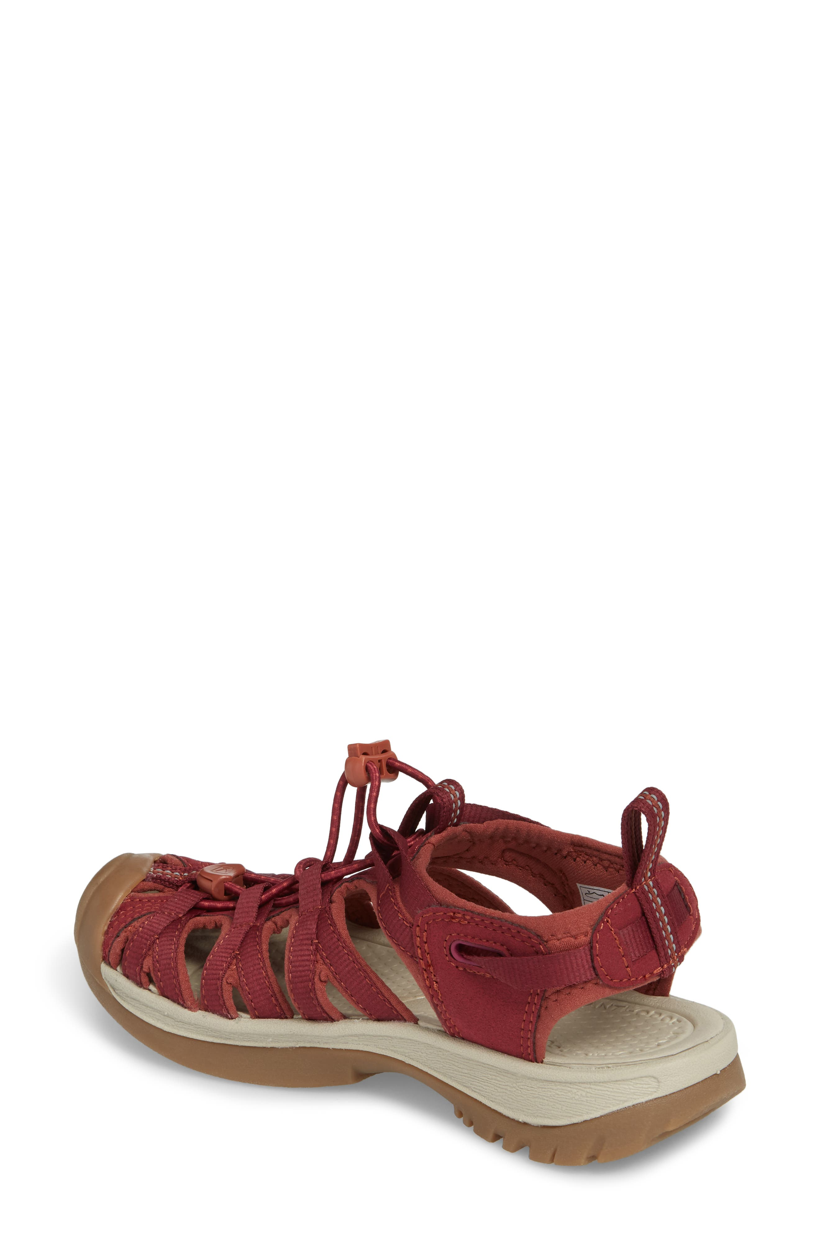 'Whisper' Water Friendly Sport Sandal,                             Alternate thumbnail 2, color,                             Rhododendron/ Marsala