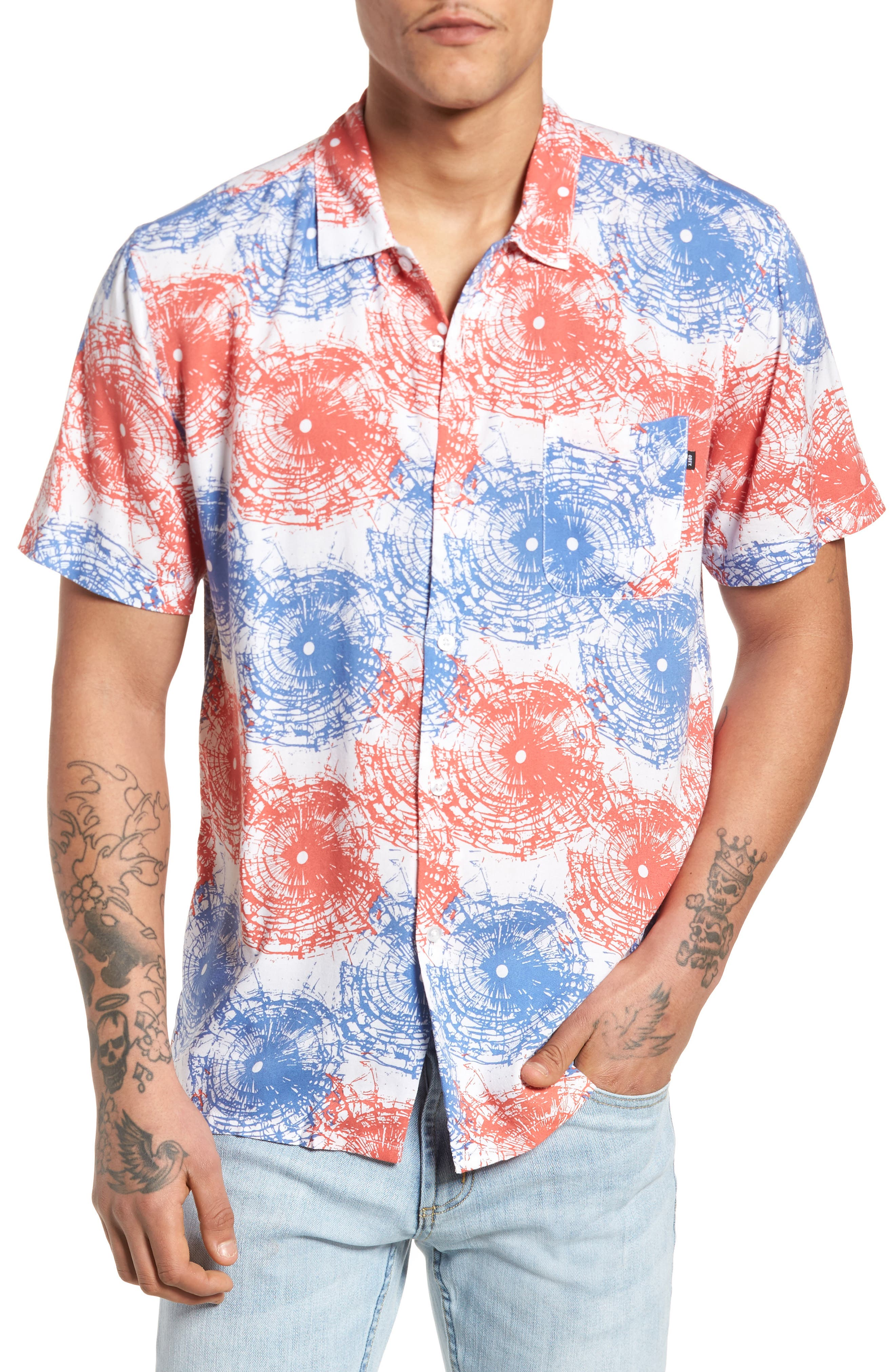 Main Image - Obey Shattered Woven Shirt