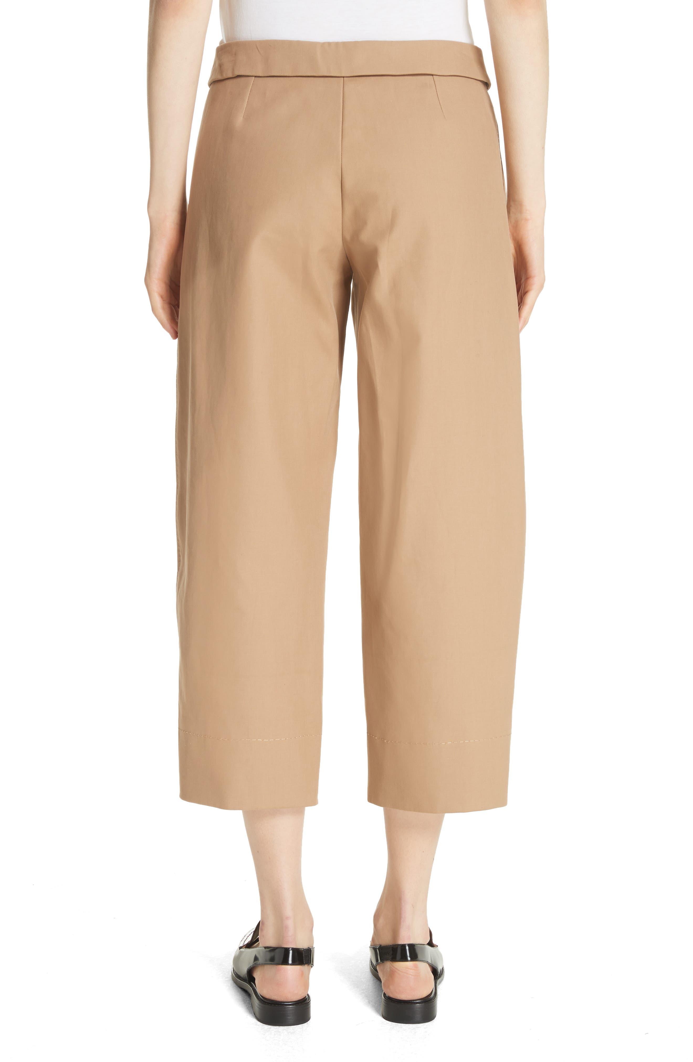 Cotton Crop Pants,                             Alternate thumbnail 2, color,                             Camel
