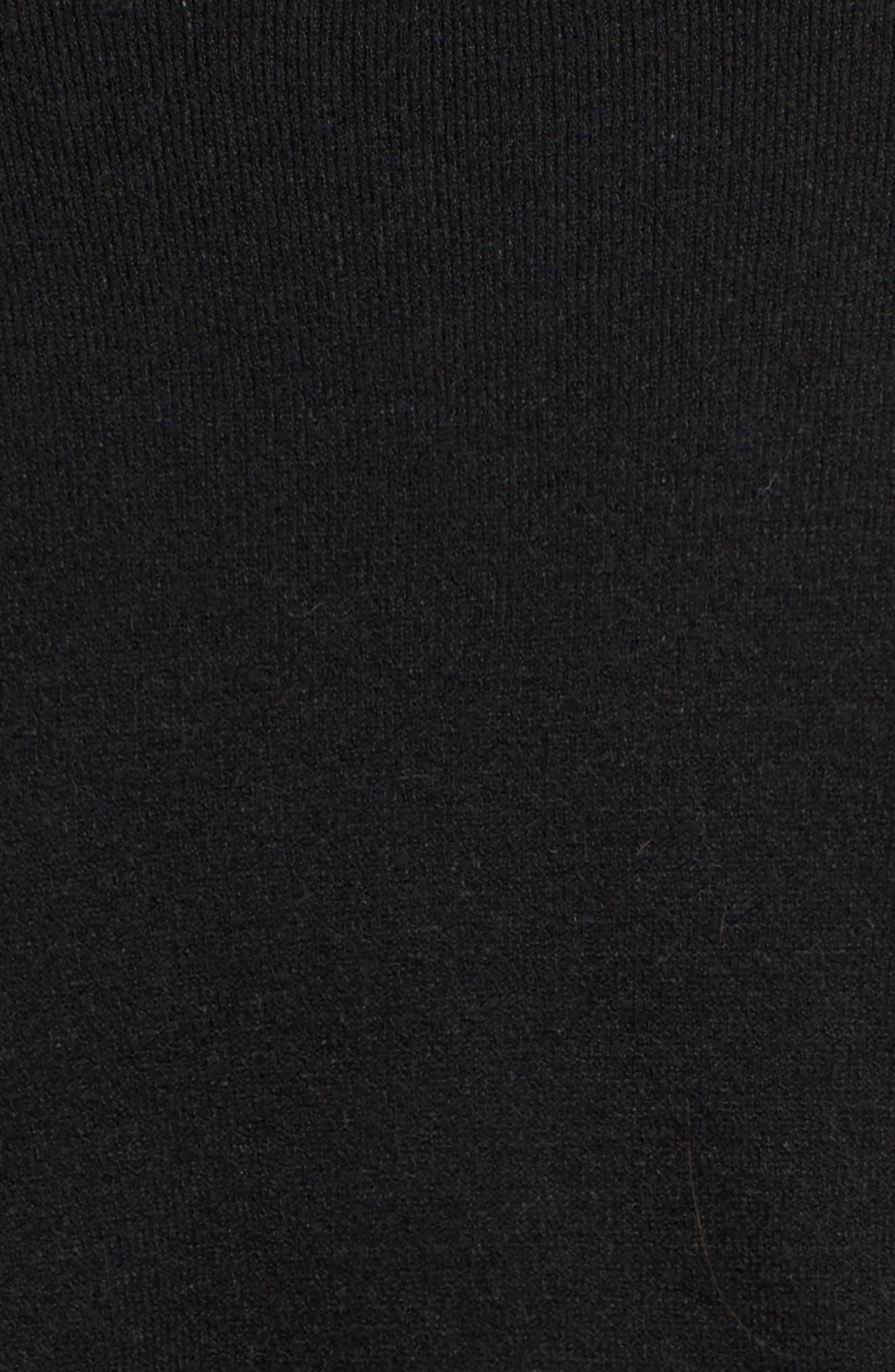 Off-Duty Ballet Tie Front Sweater,                             Alternate thumbnail 6, color,                             Black