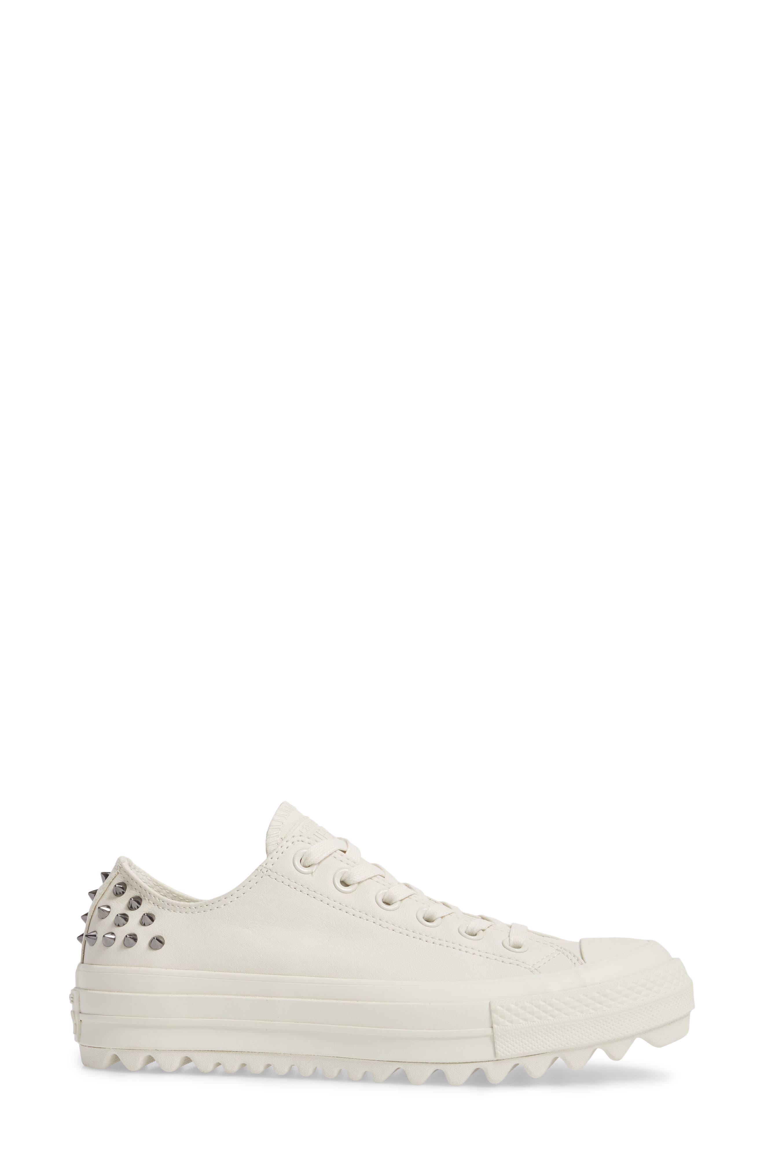 Studded Lift Ripple Sneaker,                             Alternate thumbnail 3, color,                             Vaporous Gray