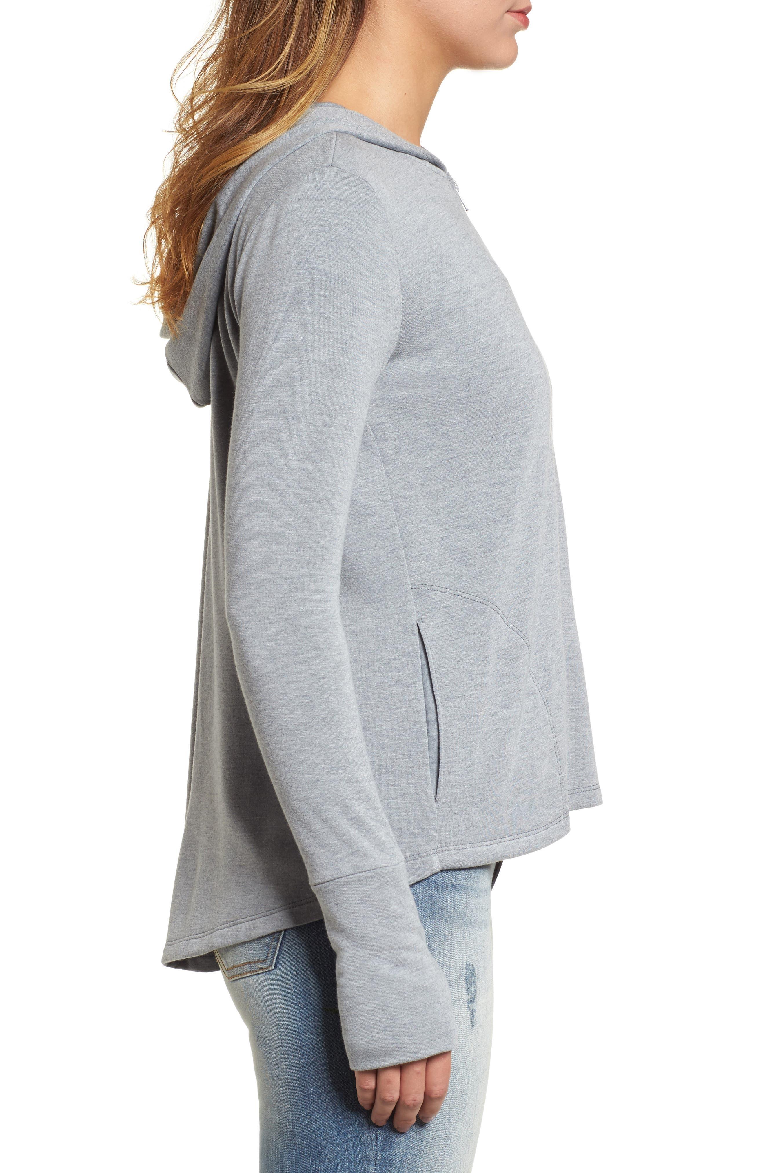 Alternate Image 3  - Caslon® Off-Duty Zip Front Hooded Jacket