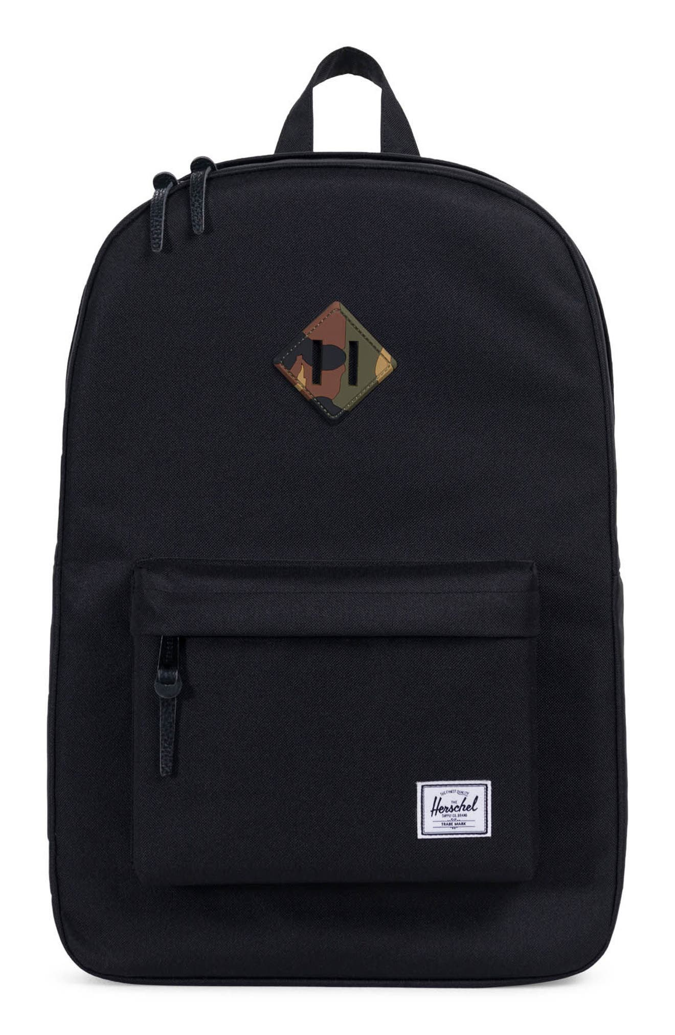 Heritage Reflective Backpack,                             Main thumbnail 1, color,                             Black/ Woodland Camo