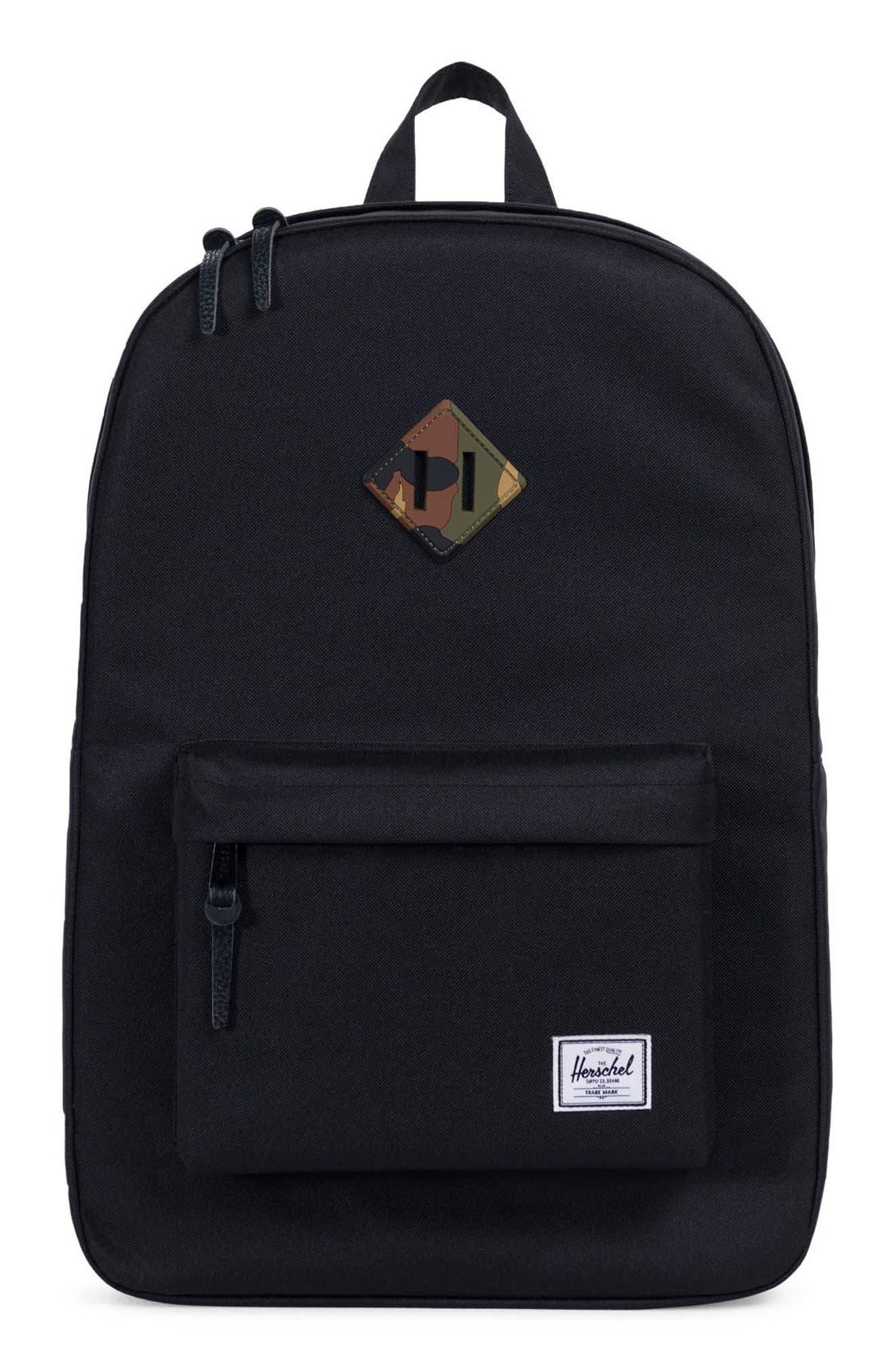 Heritage Reflective Backpack,                         Main,                         color, Black/ Woodland Camo