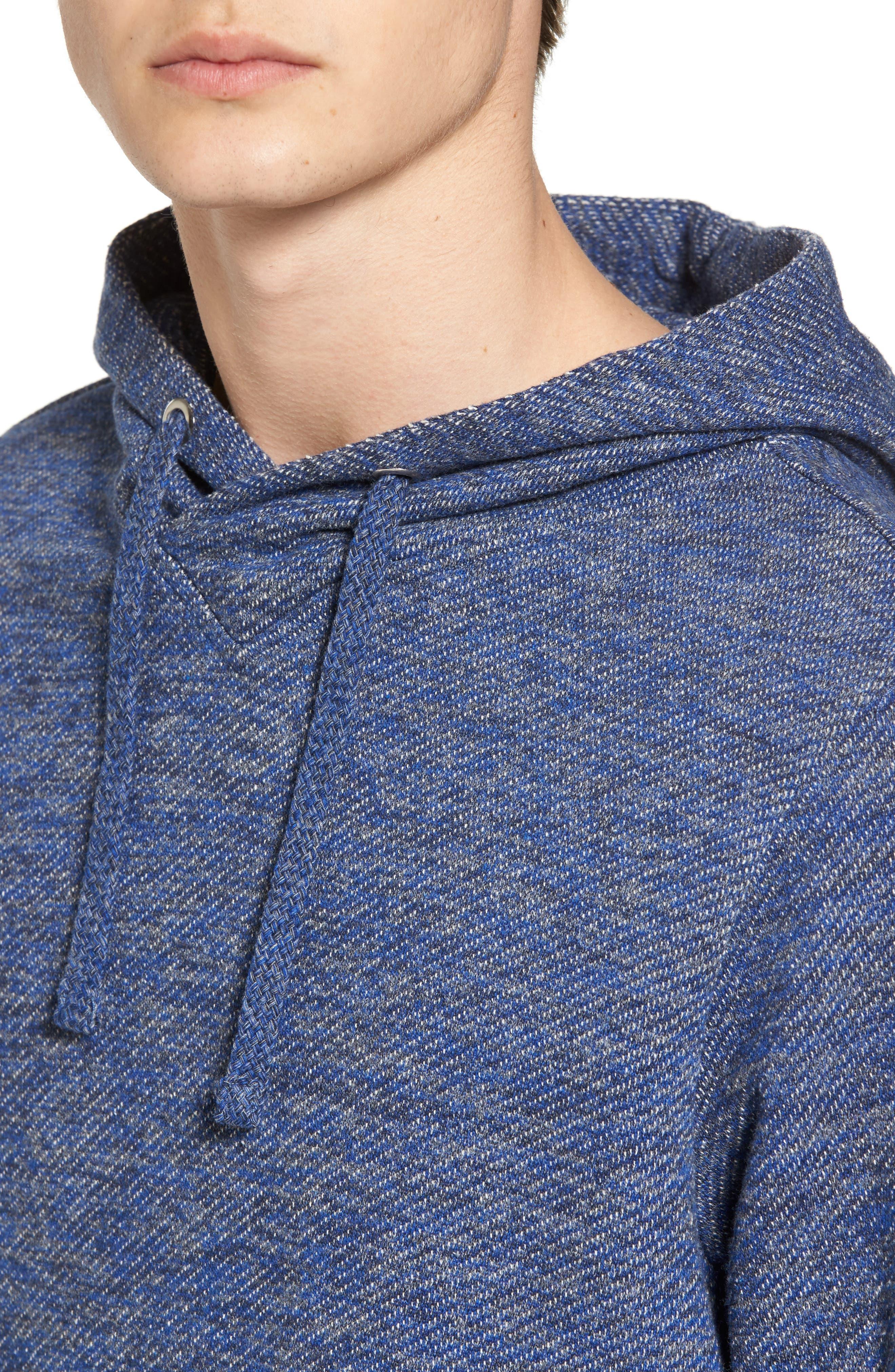 Mélange Knit Hoodie,                             Alternate thumbnail 4, color,                             Combo E