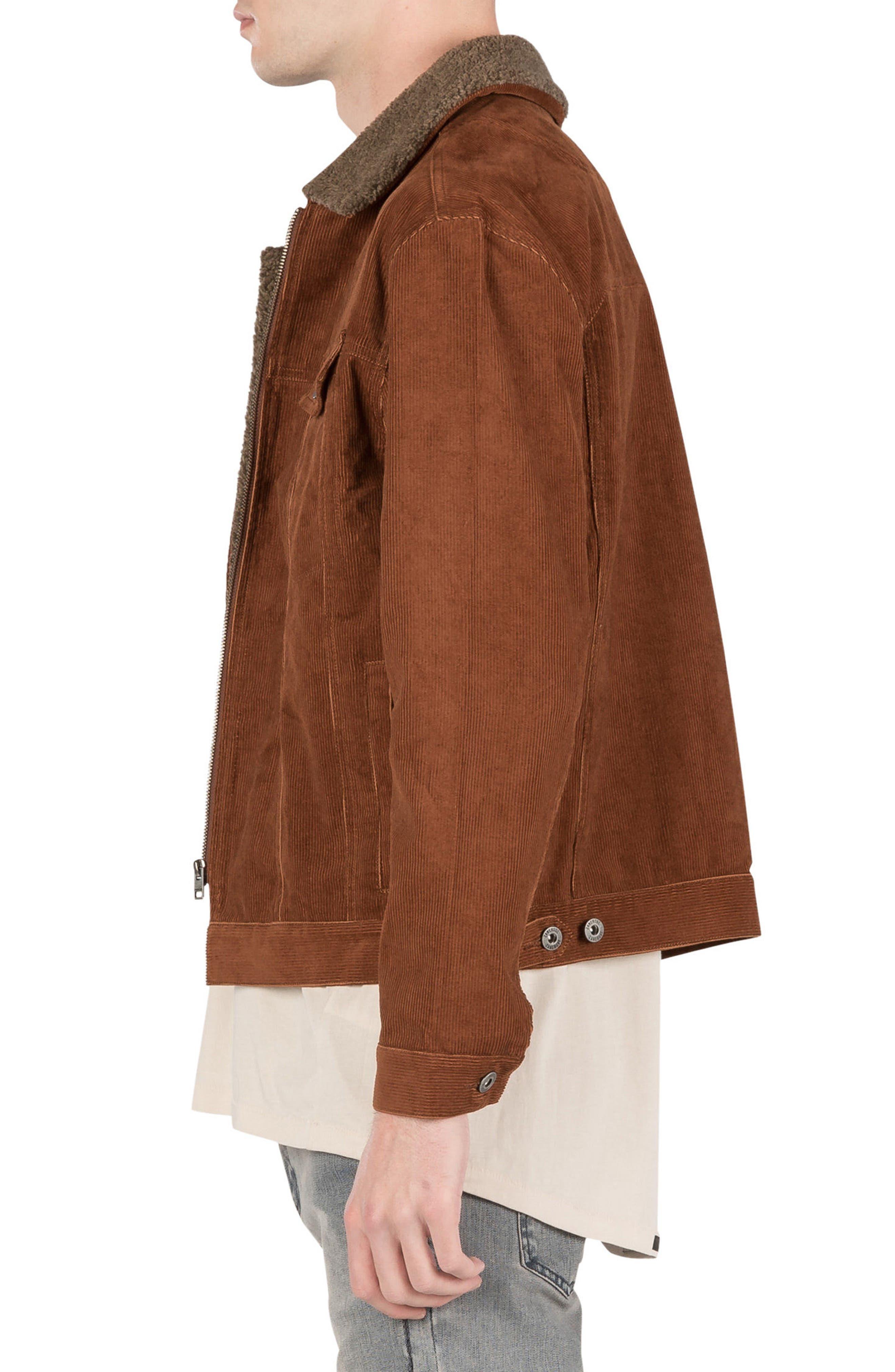 Snitch Corduroy Jacket,                             Alternate thumbnail 3, color,                             Dark Bronze