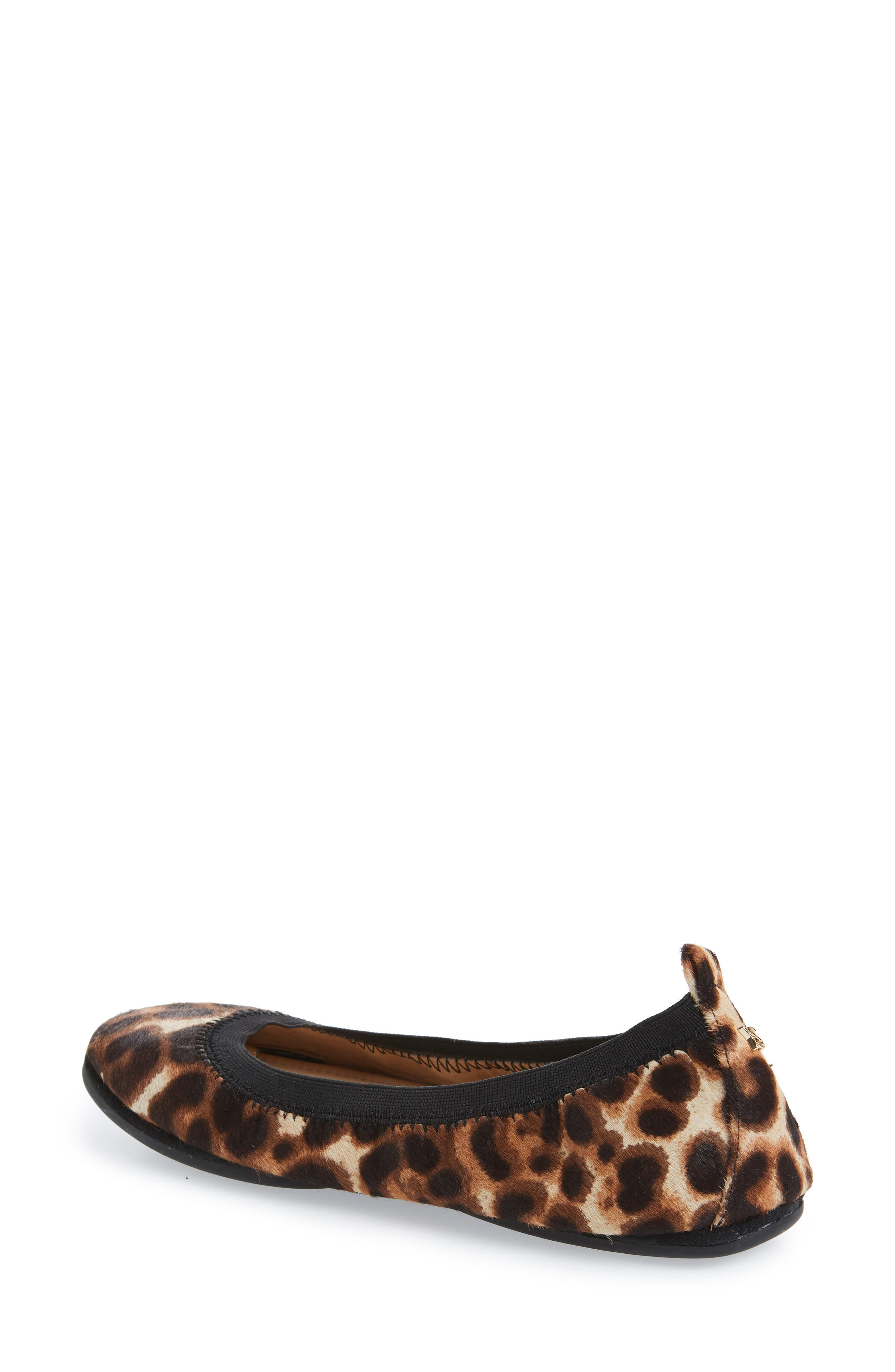 Samara Foldable Ballet Flat,                             Alternate thumbnail 2, color,                             Natural Leopard Calf Hair