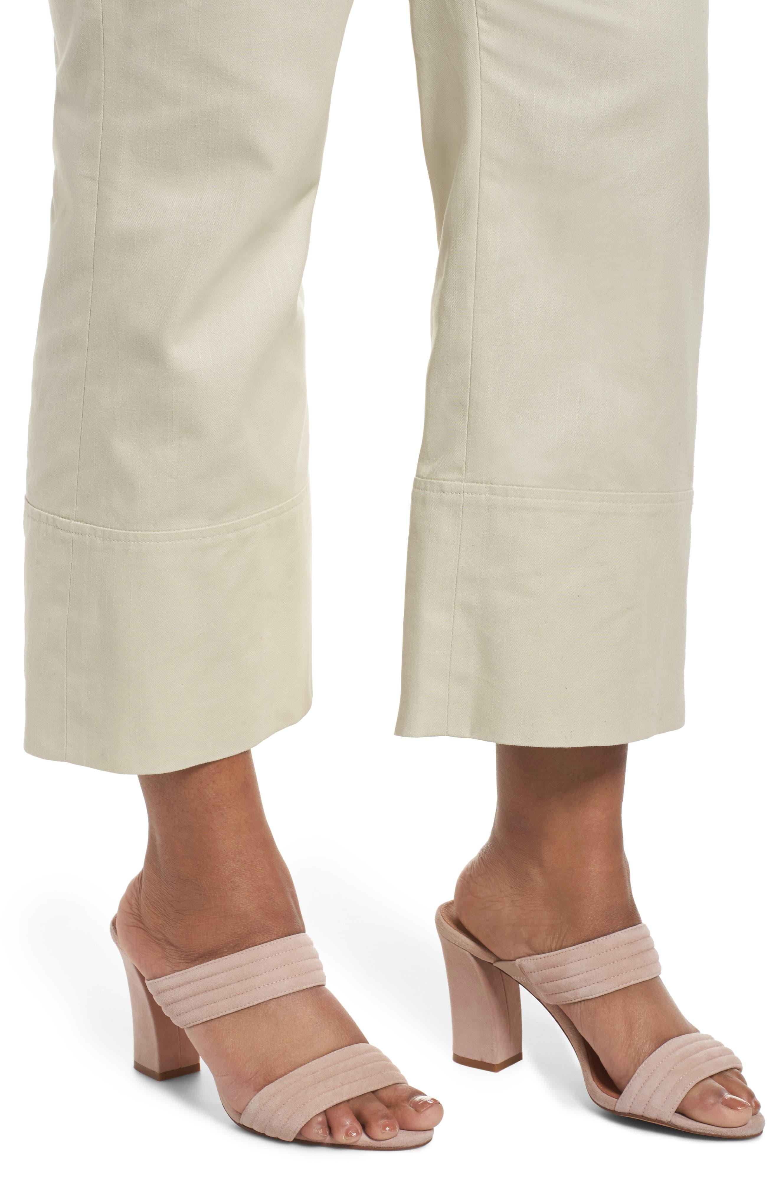 Wide Leg Ankle Pants,                             Alternate thumbnail 4, color,                             Beige Beach