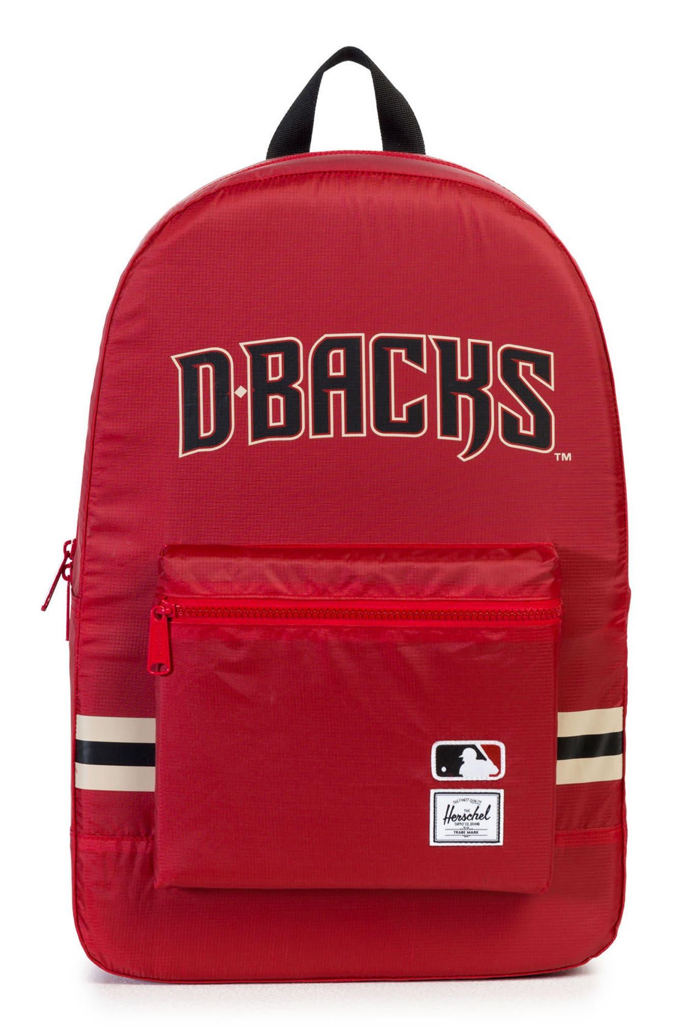 Packable - MLB National League Backpack,                             Main thumbnail 1, color,                             Arizona Diamondbacks