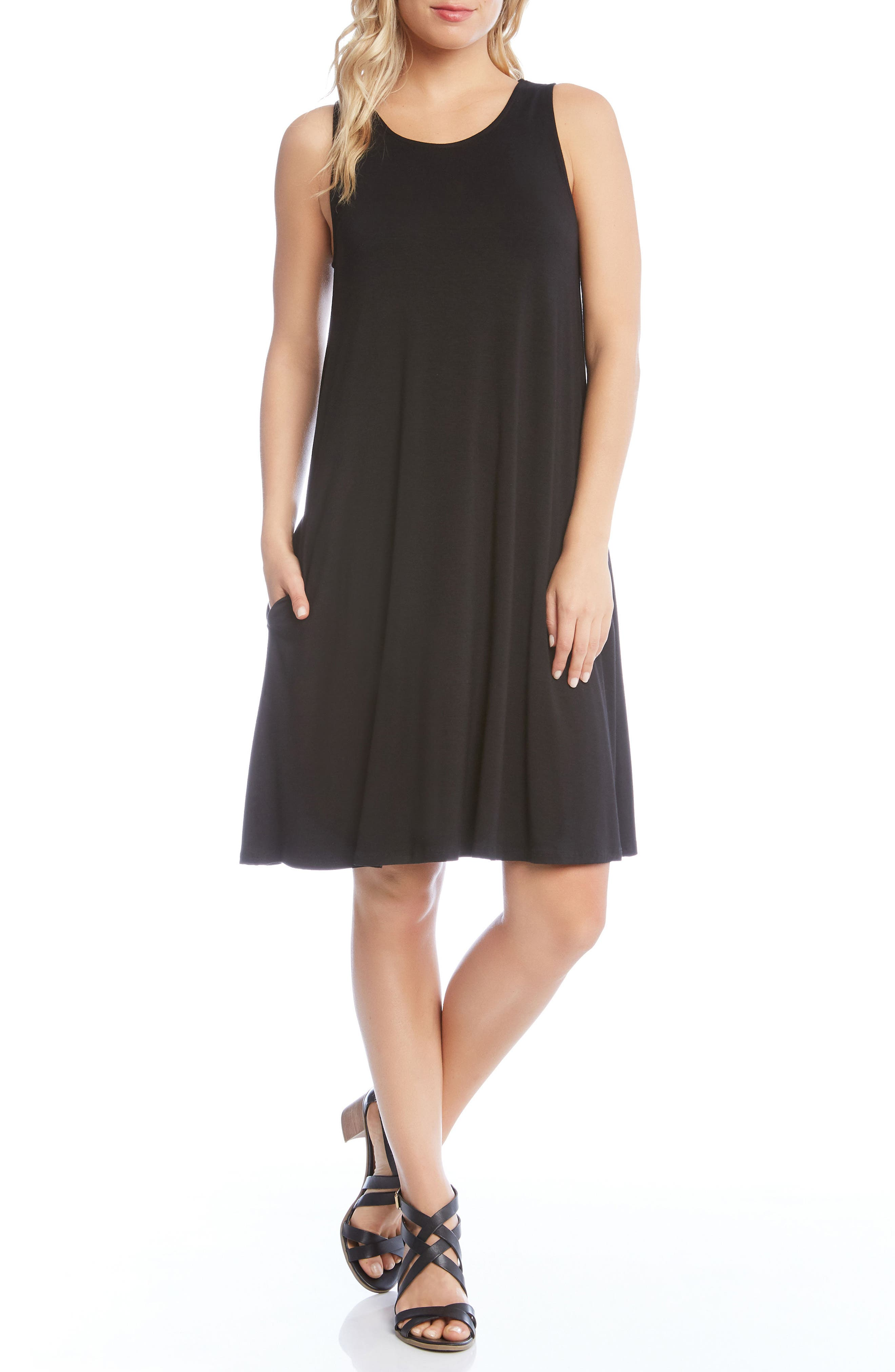 Chloe Swing Jersey Dress,                             Main thumbnail 1, color,                             Black