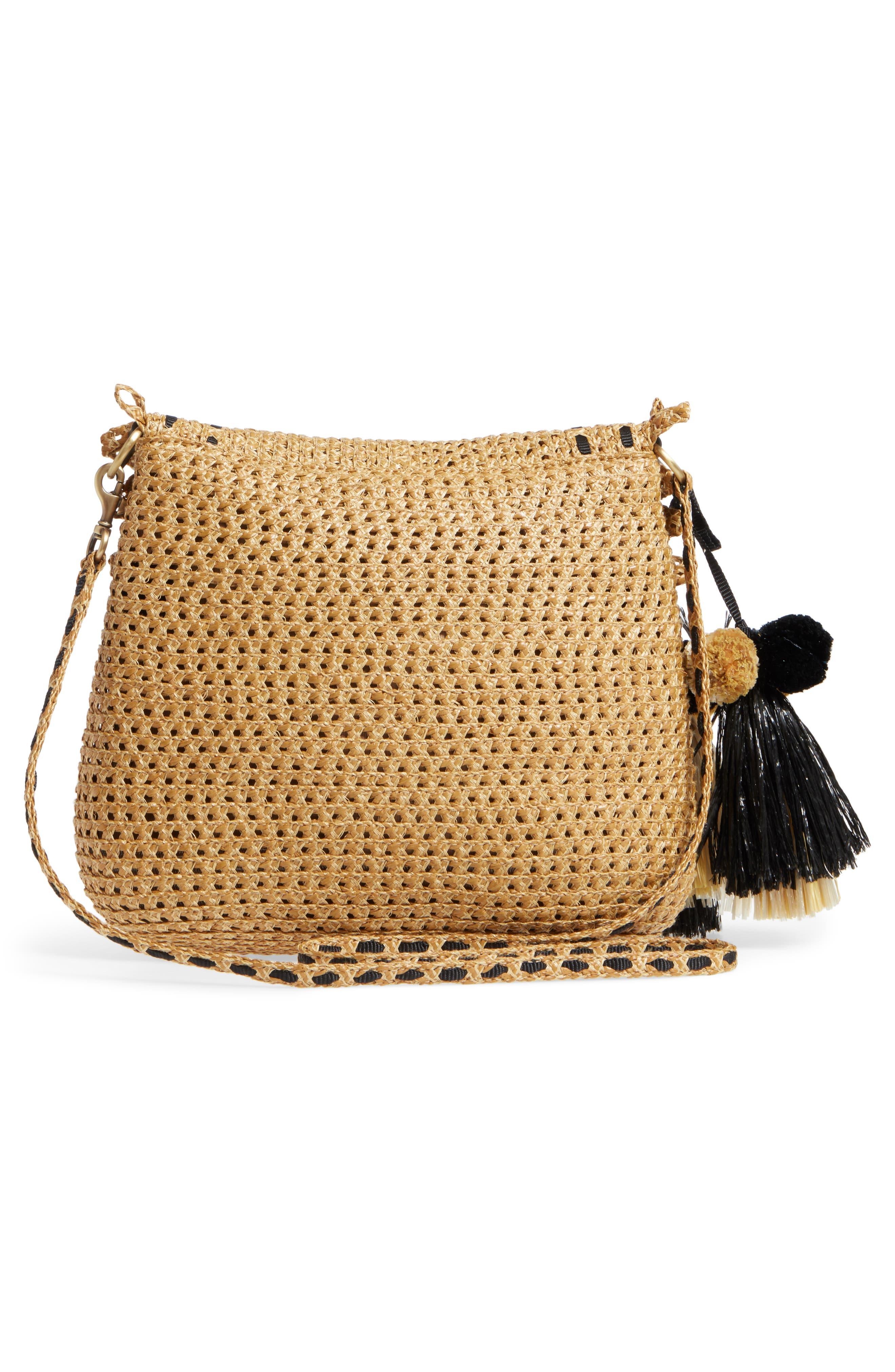 Brigitte Squishee<sup>®</sup> Shoulder Bag,                             Alternate thumbnail 3, color,                             Natural/ Black