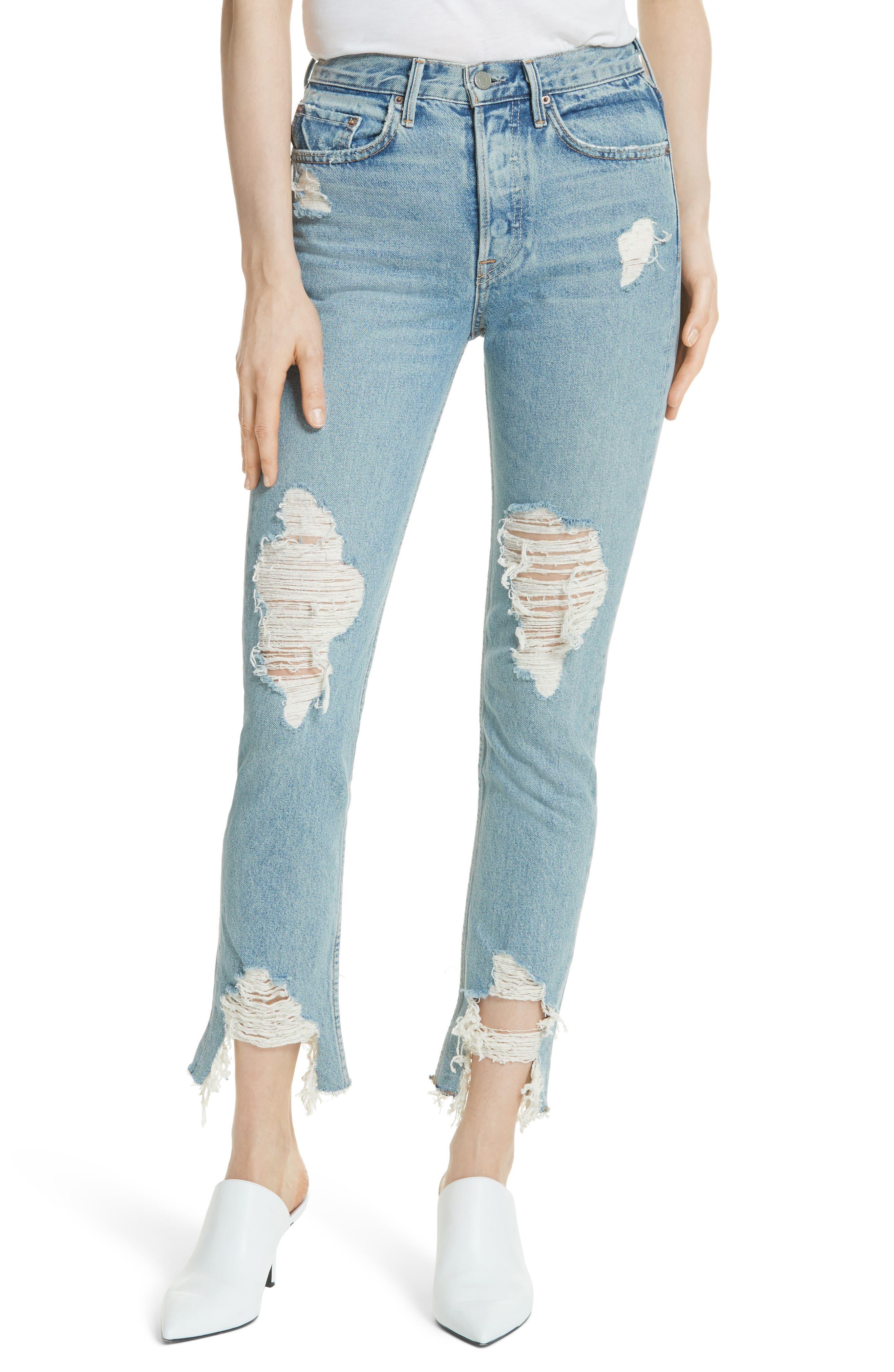 Alternate Image 1 Selected - GRLFRND Karolina High Waist Jeans (Tough Love)