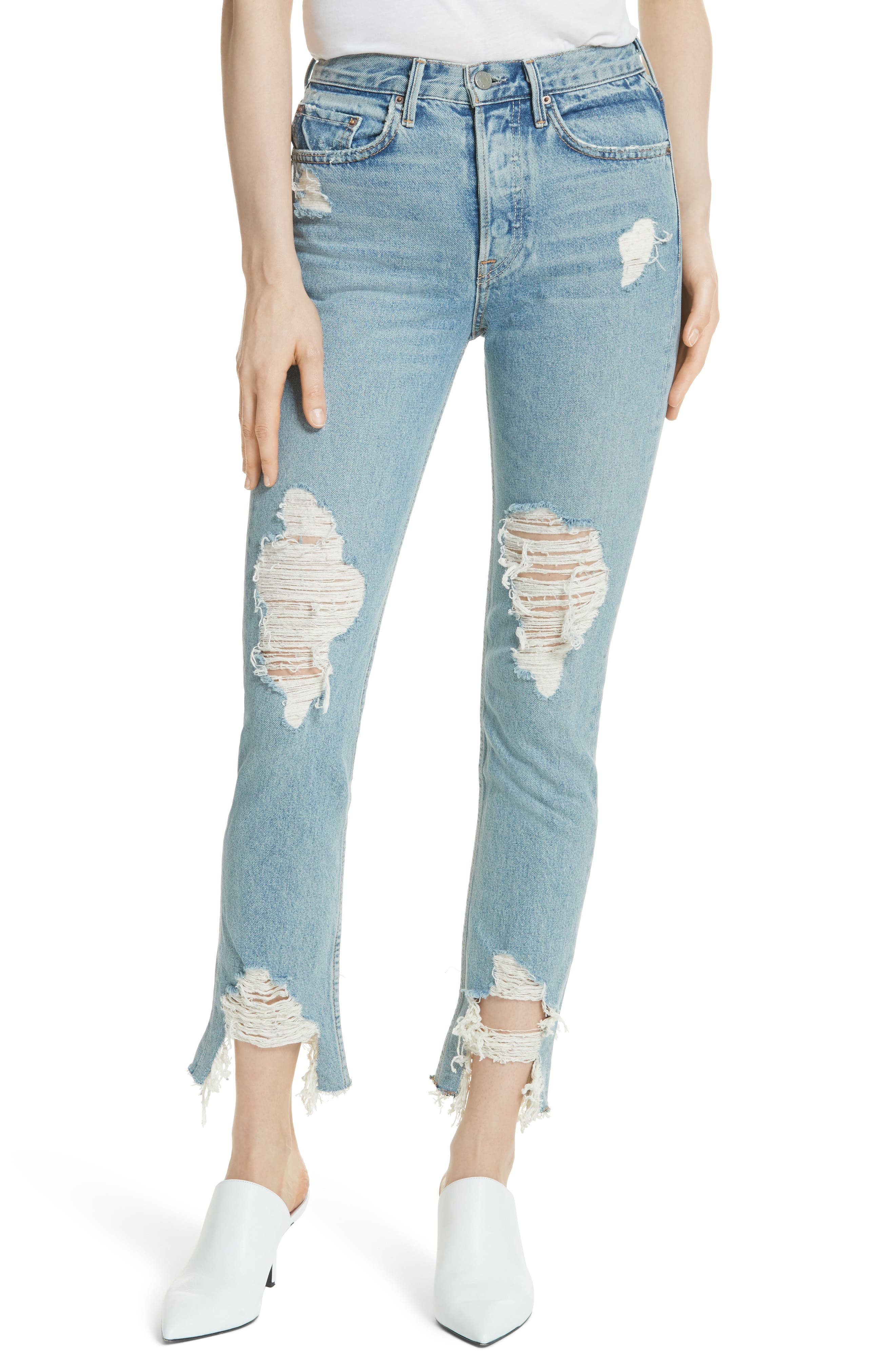 Main Image - GRLFRND Karolina High Waist Jeans (Tough Love)