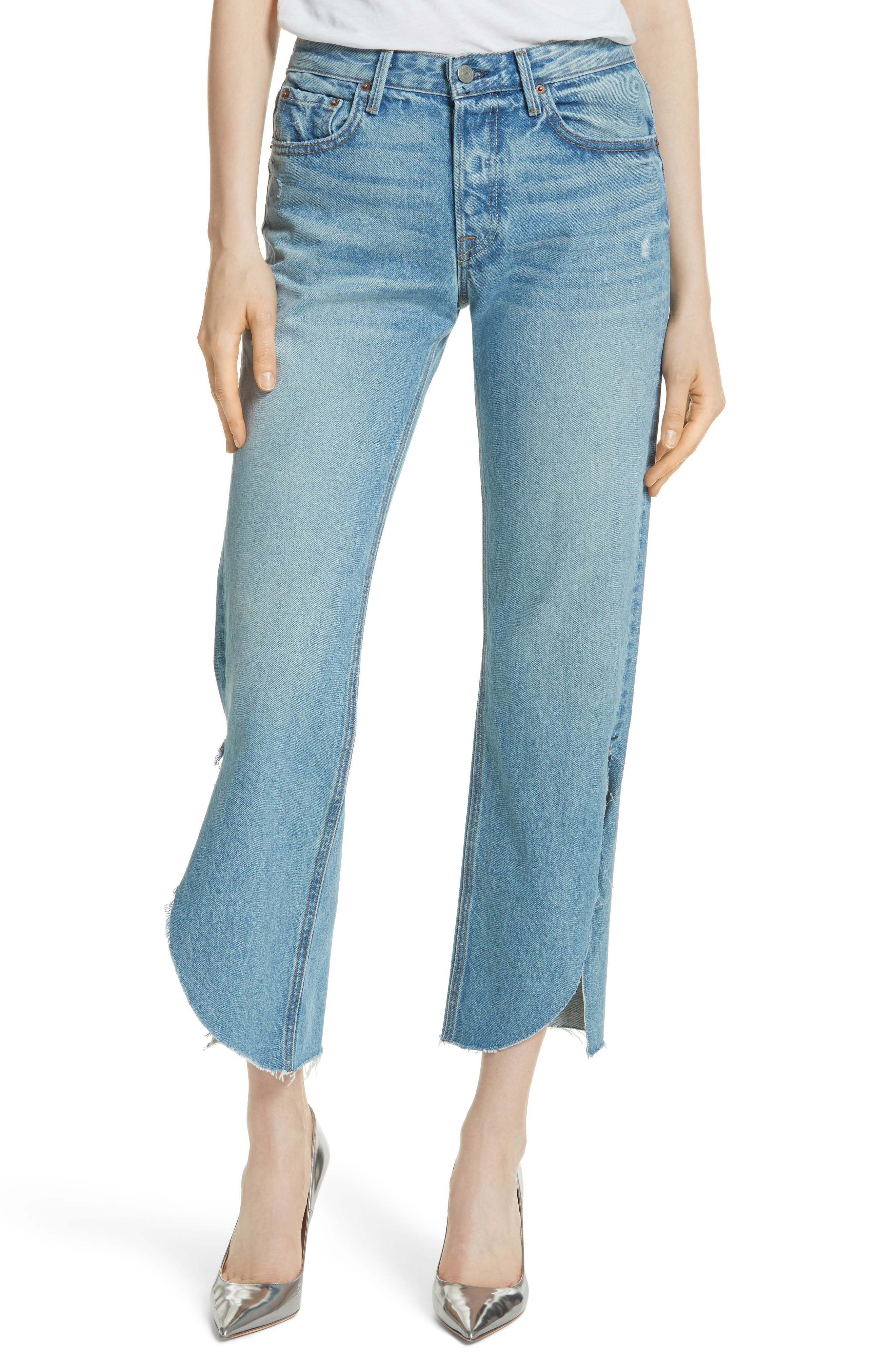 Main Image - GRLFRND Maran Wide Leg Crop Jeans (Archaic)