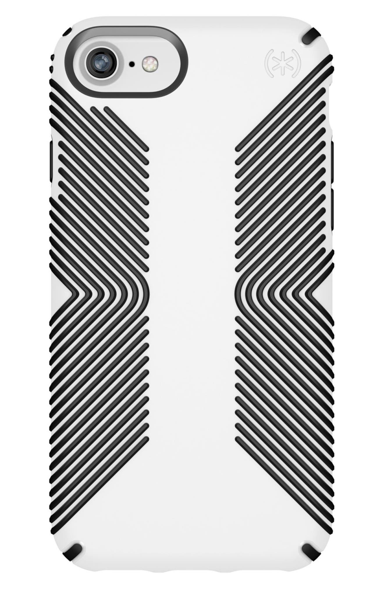 Grip iPhone 6/6s/7/8 Case,                             Main thumbnail 1, color,                             White/ Black