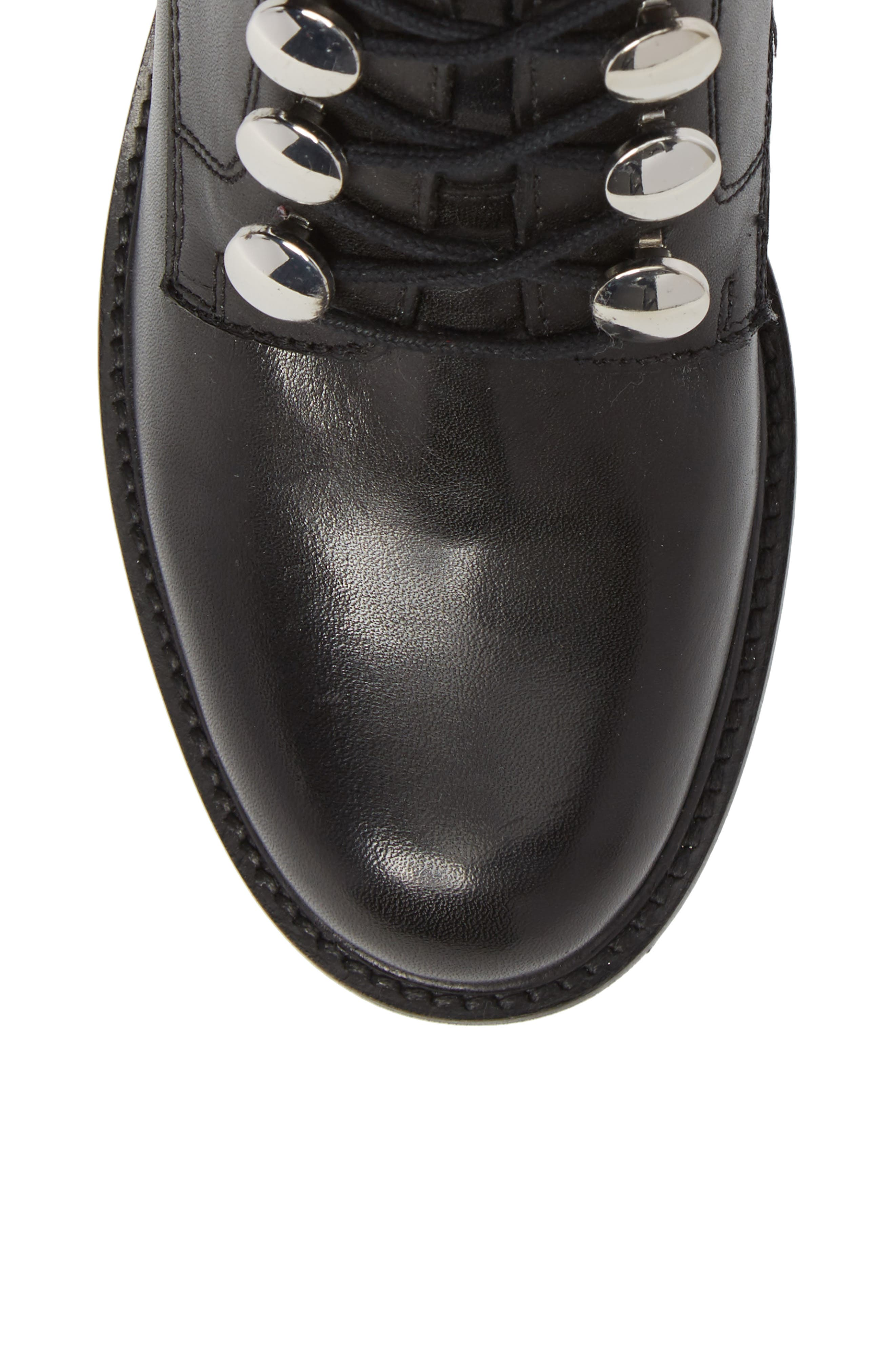 Make it Count Lace-Up Boot,                             Alternate thumbnail 5, color,                             Black Leather