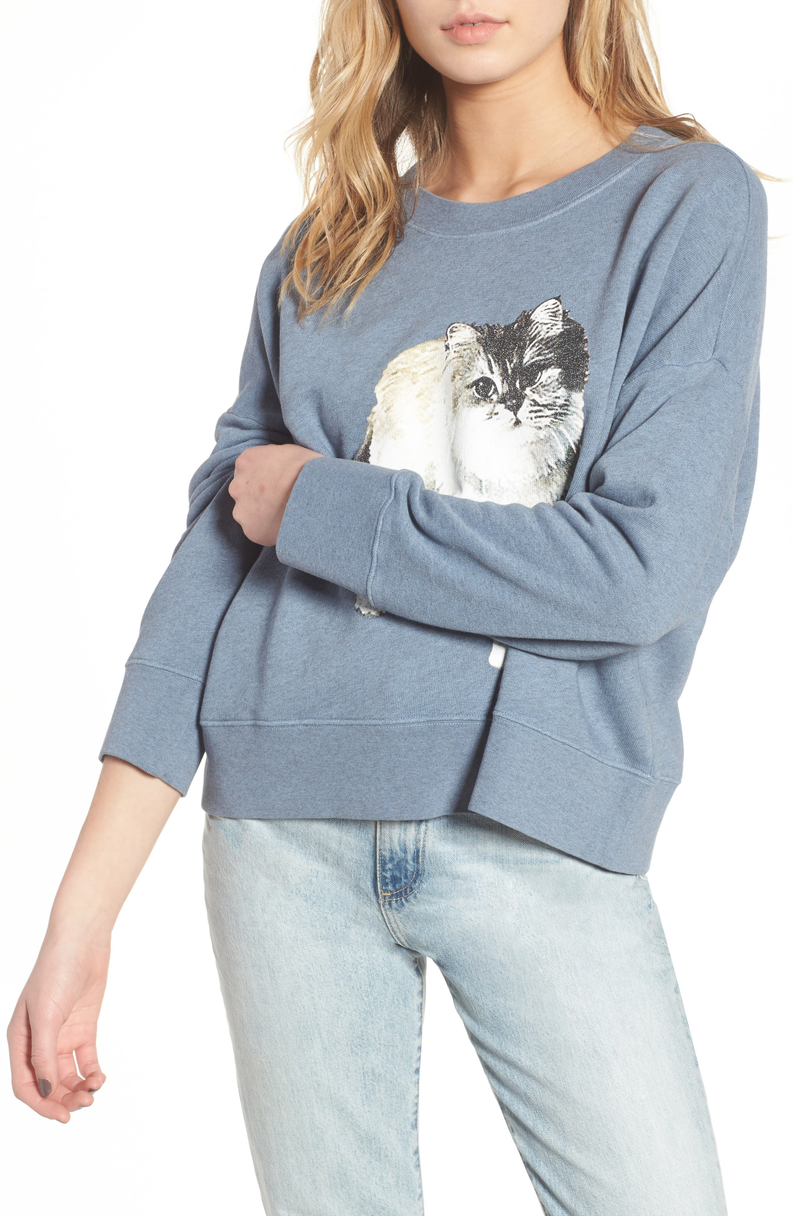 Kyoto Sweatshirt,                         Main,                         color, Blue