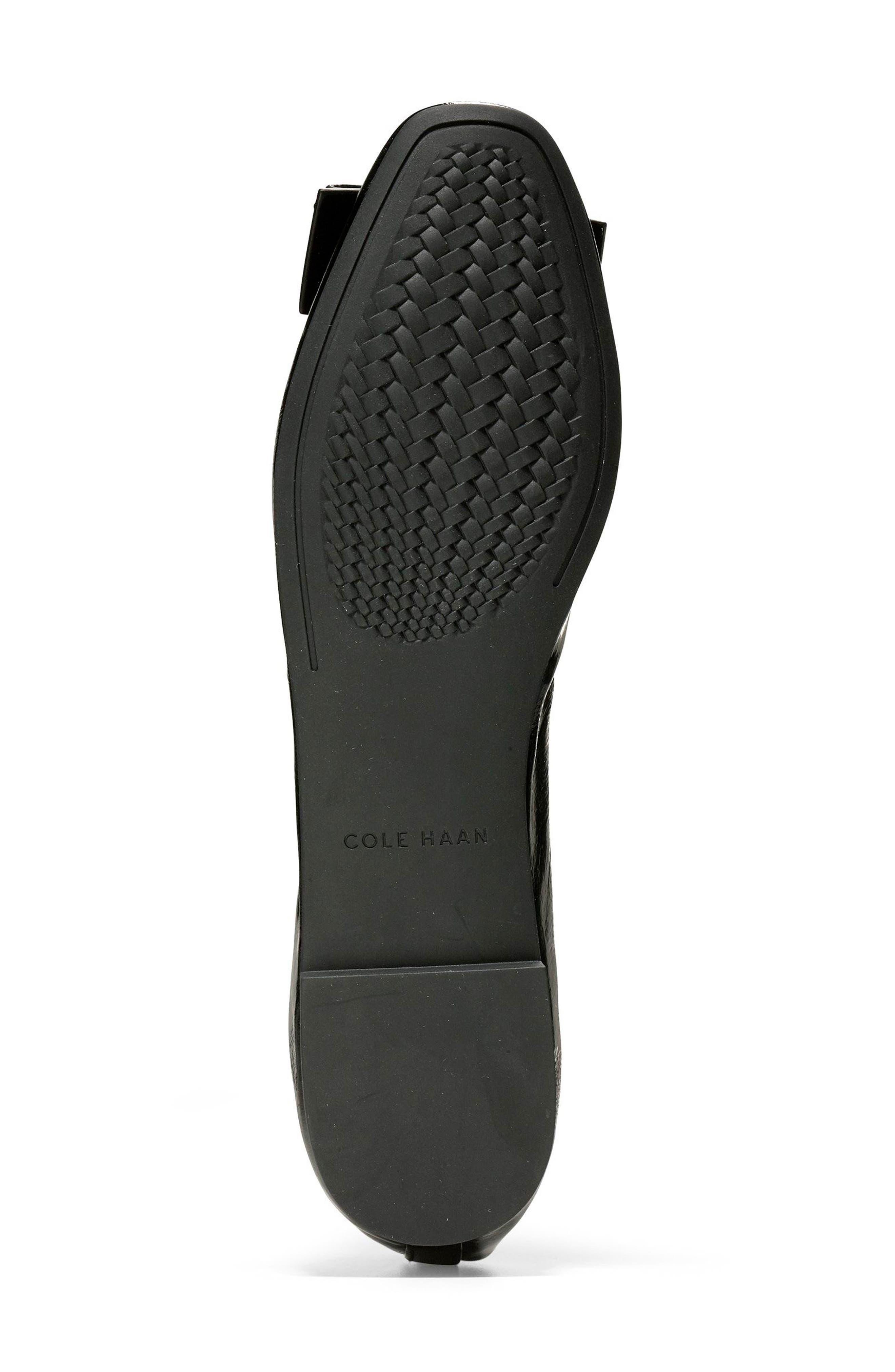 Tali Modern Bow Ballet Flat,                             Alternate thumbnail 6, color,                             Black Patent
