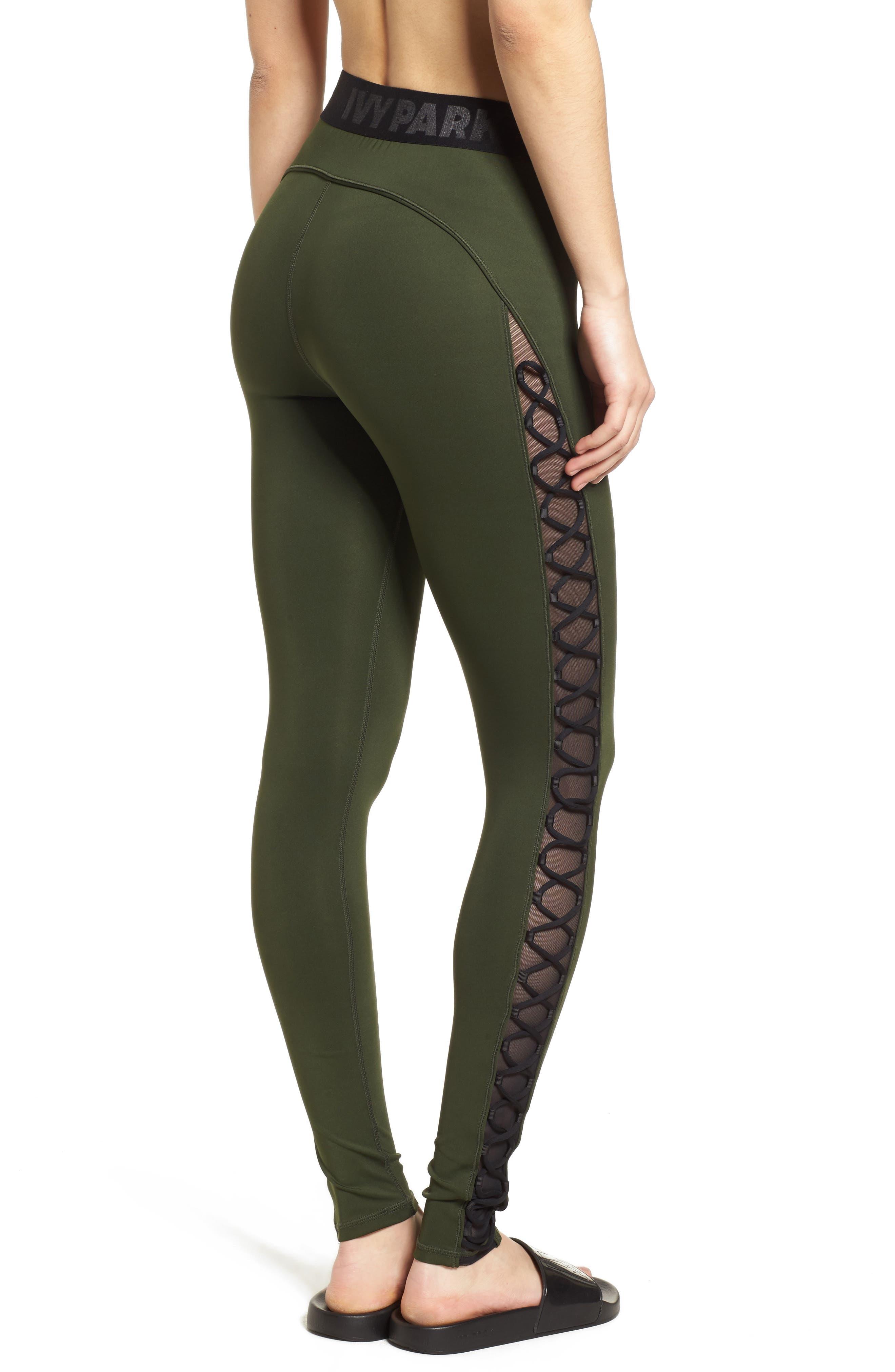 Alternate Image 3  - Ivy Park® Mesh Lace-Up Leggings