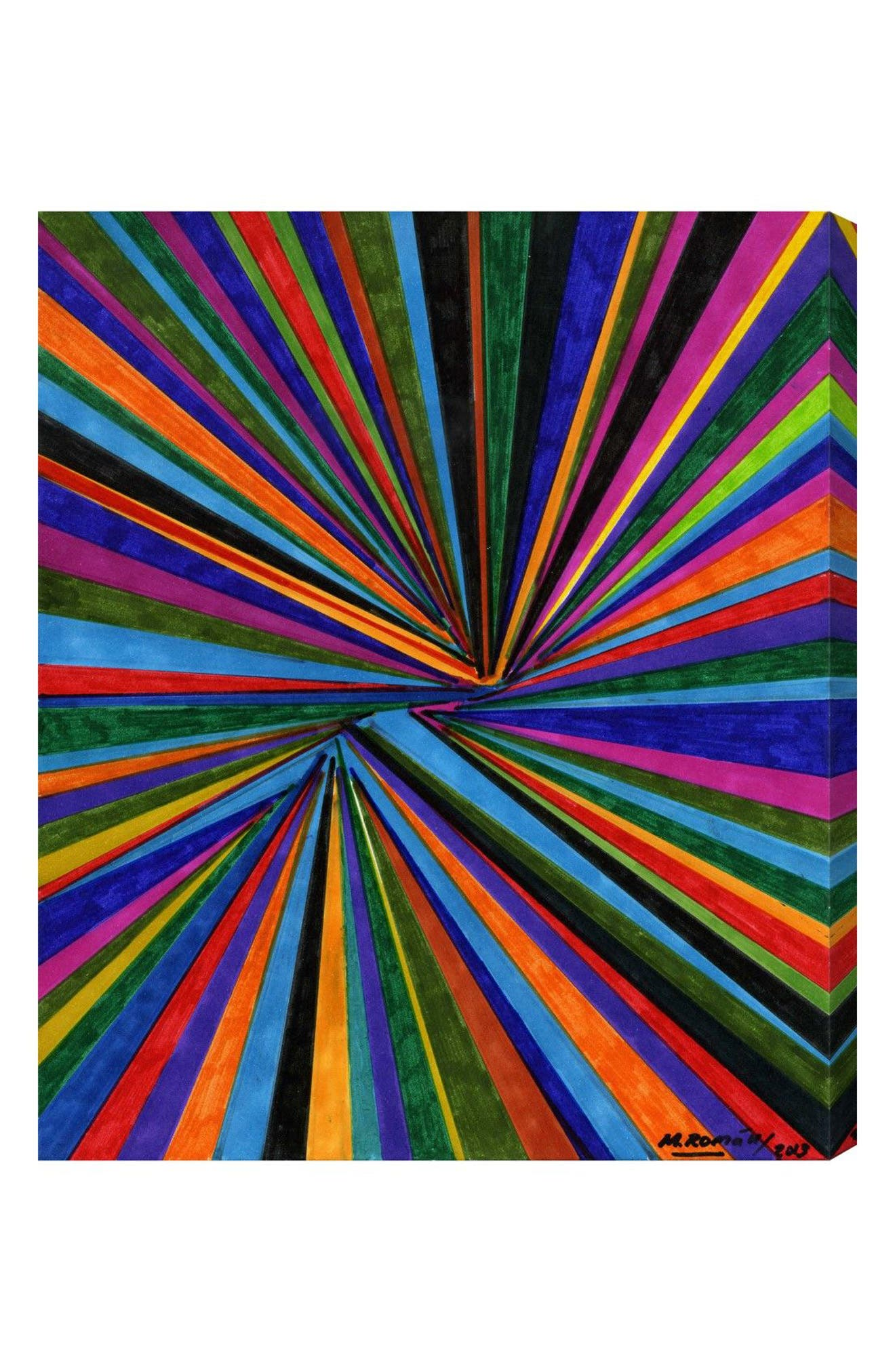 Tunnel Vision Canvas Wall Art,                             Main thumbnail 1, color,                             White