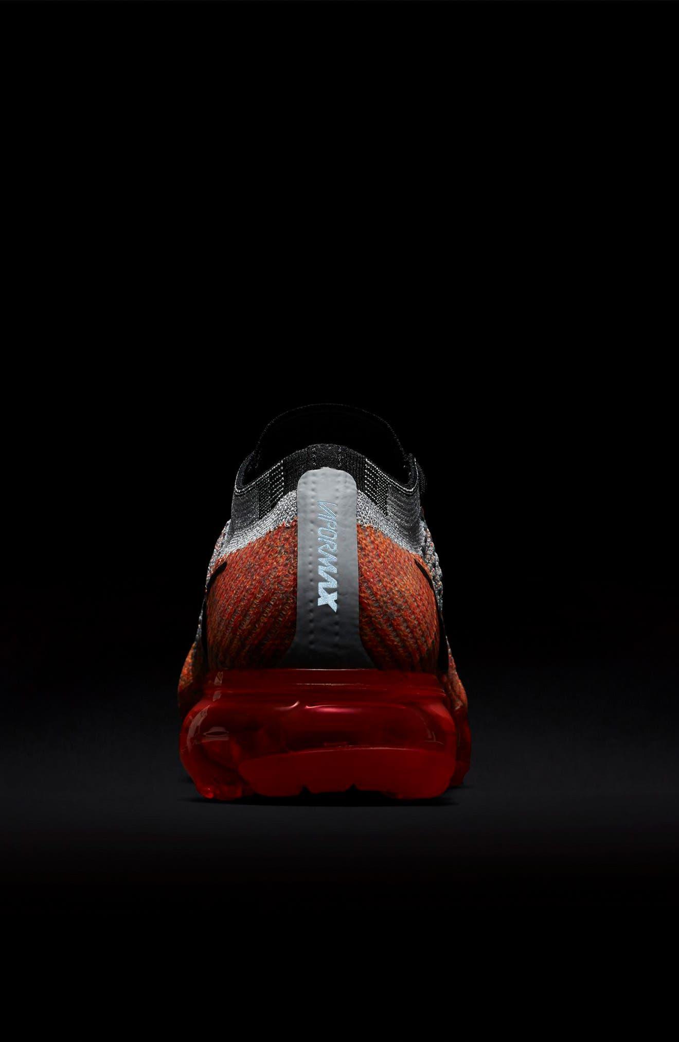 Air VaporMax Flyknit Running Shoe,                             Alternate thumbnail 7, color,                             Wolf Grey/ Black