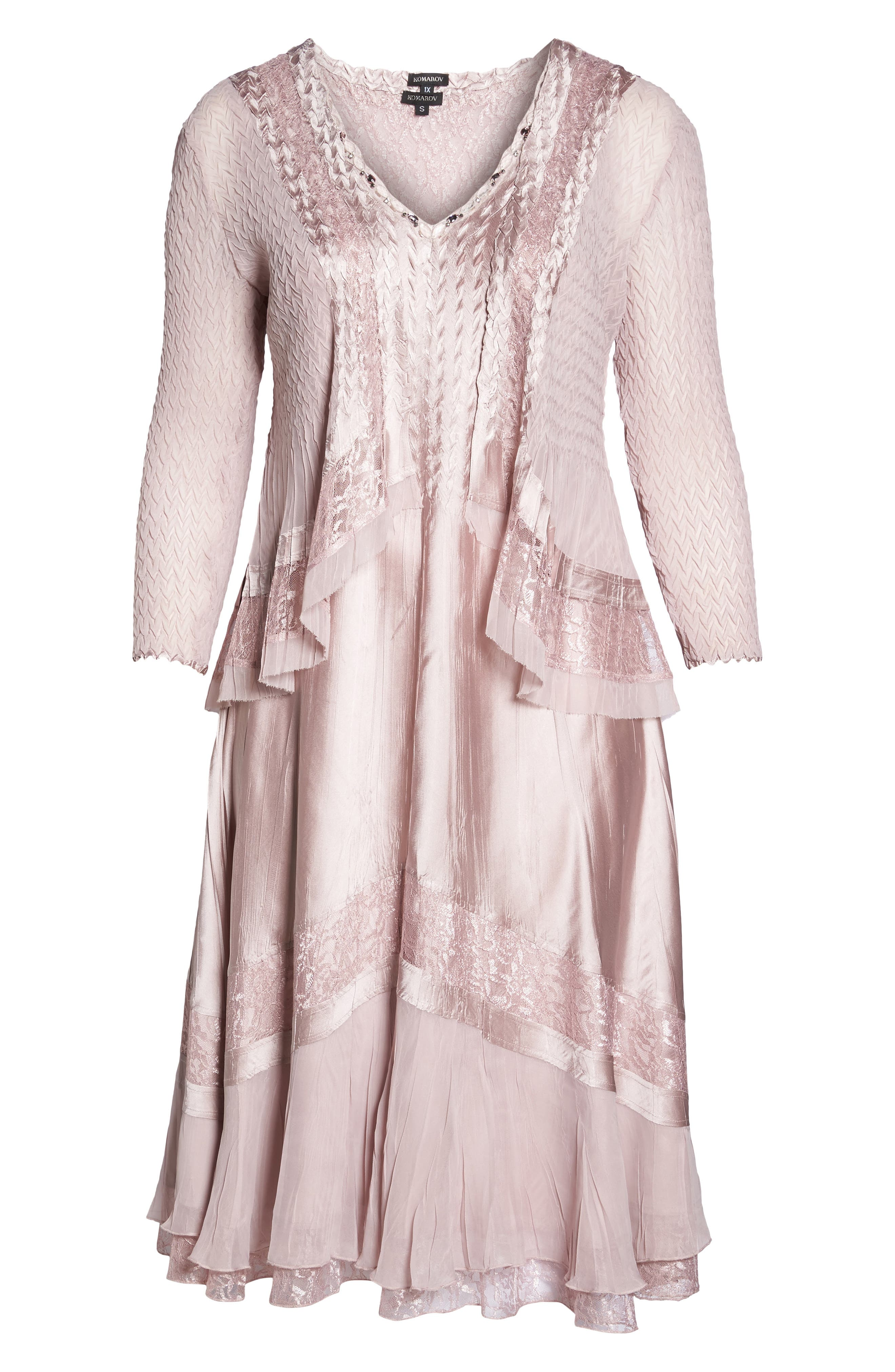 Lace Dress and Jacket,                             Alternate thumbnail 5, color,                             Lotus