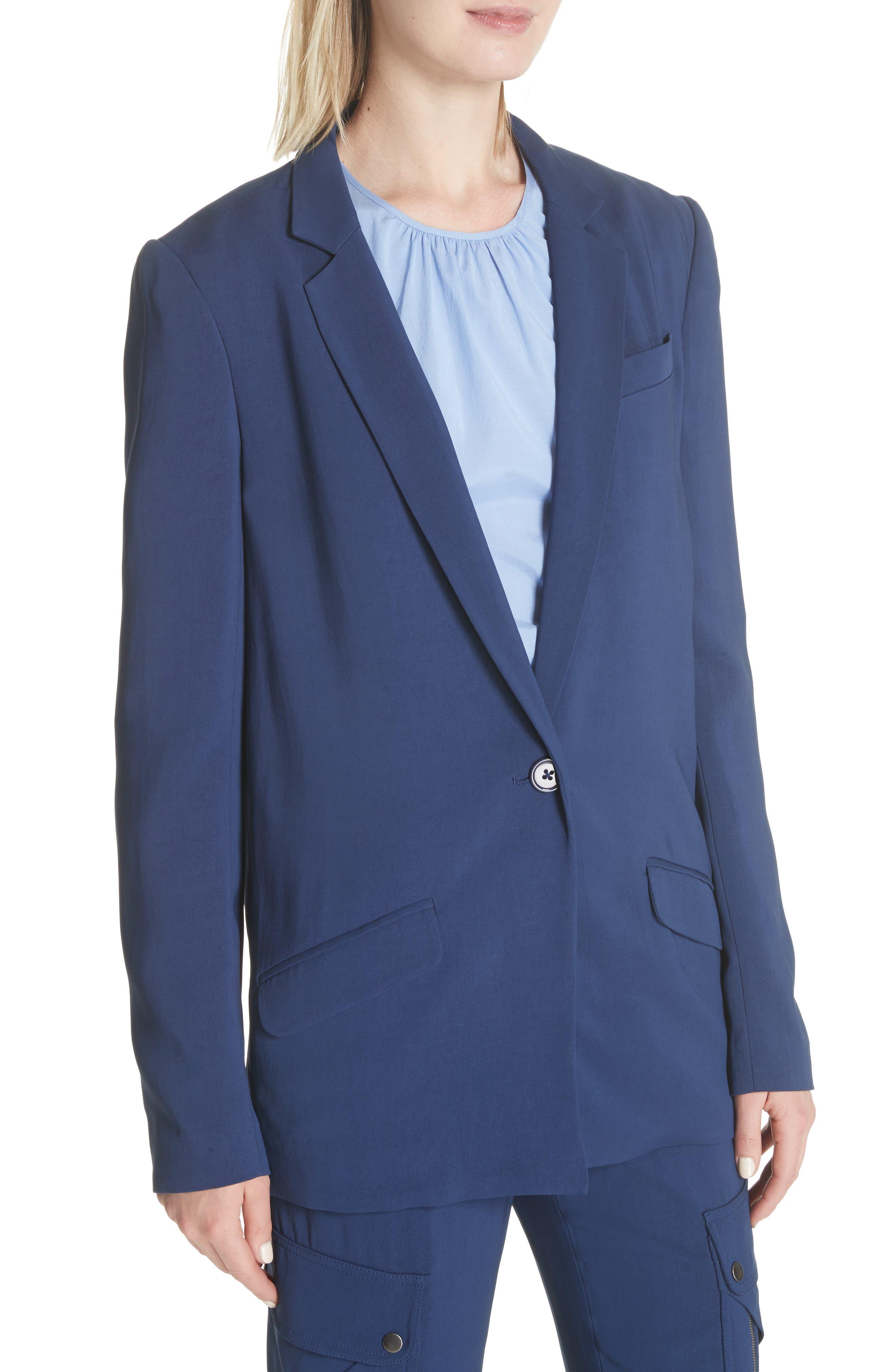 Boxy Suit Jacket,                             Alternate thumbnail 4, color,                             India Ink