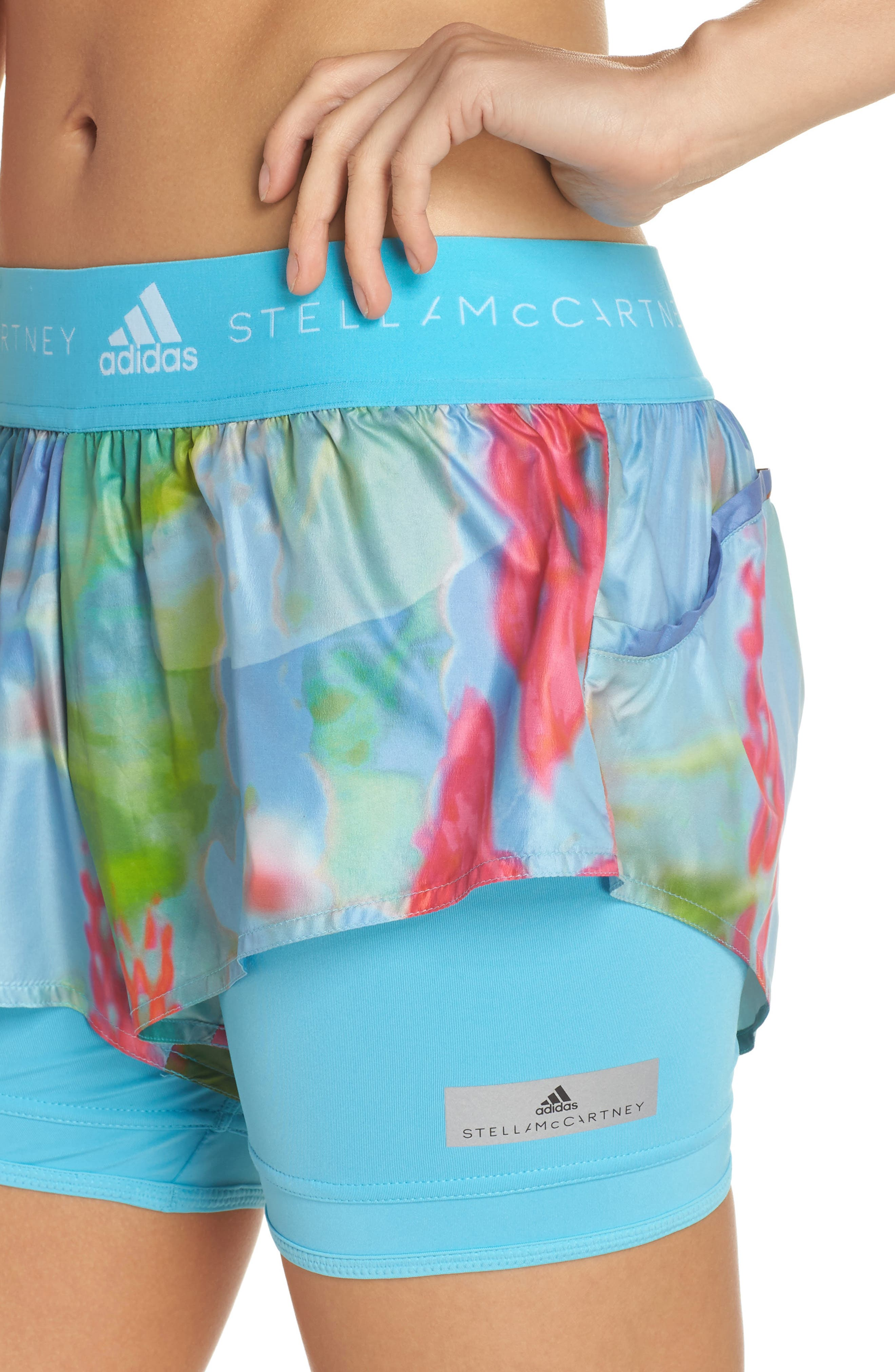 2-in-1 Run Shorts,                             Alternate thumbnail 4, color,                             Mirror Blue-Smc/ Multicolor