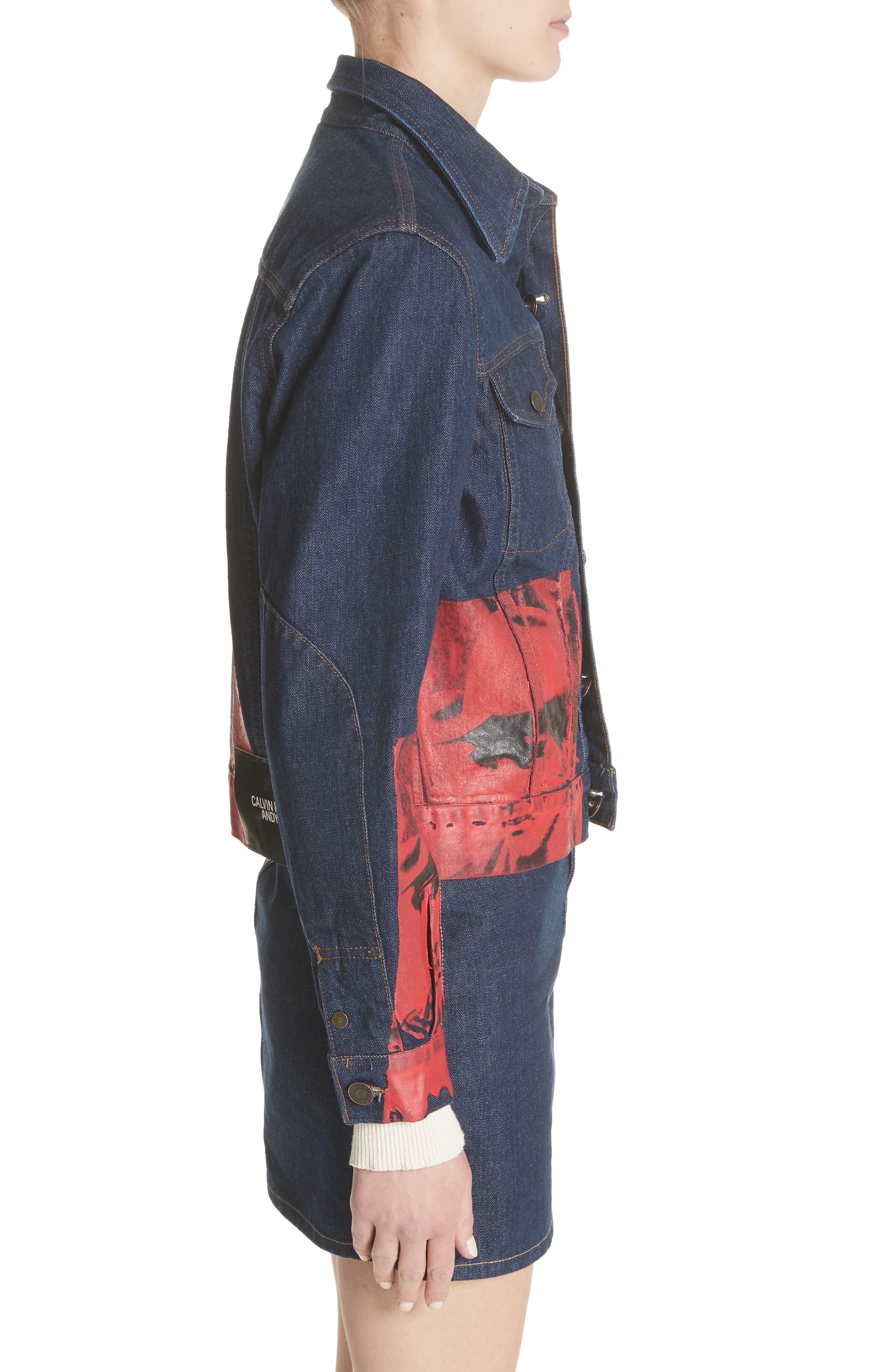 x Andy Warhol Foundation Dennis Hopper Denim Jacket,                             Alternate thumbnail 4, color,                             Blue Molten Lava
