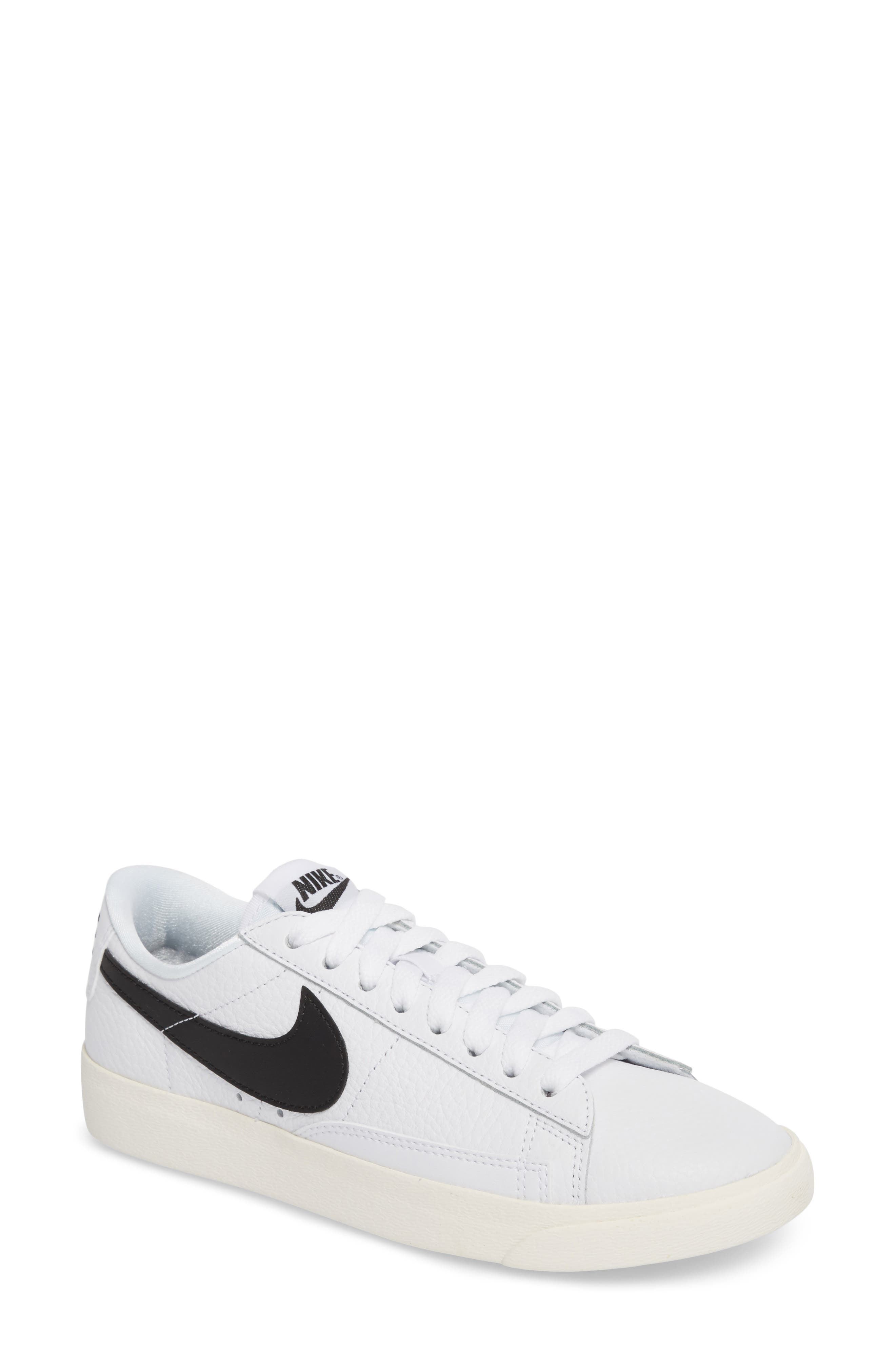 nike blazers navy blue and white shower