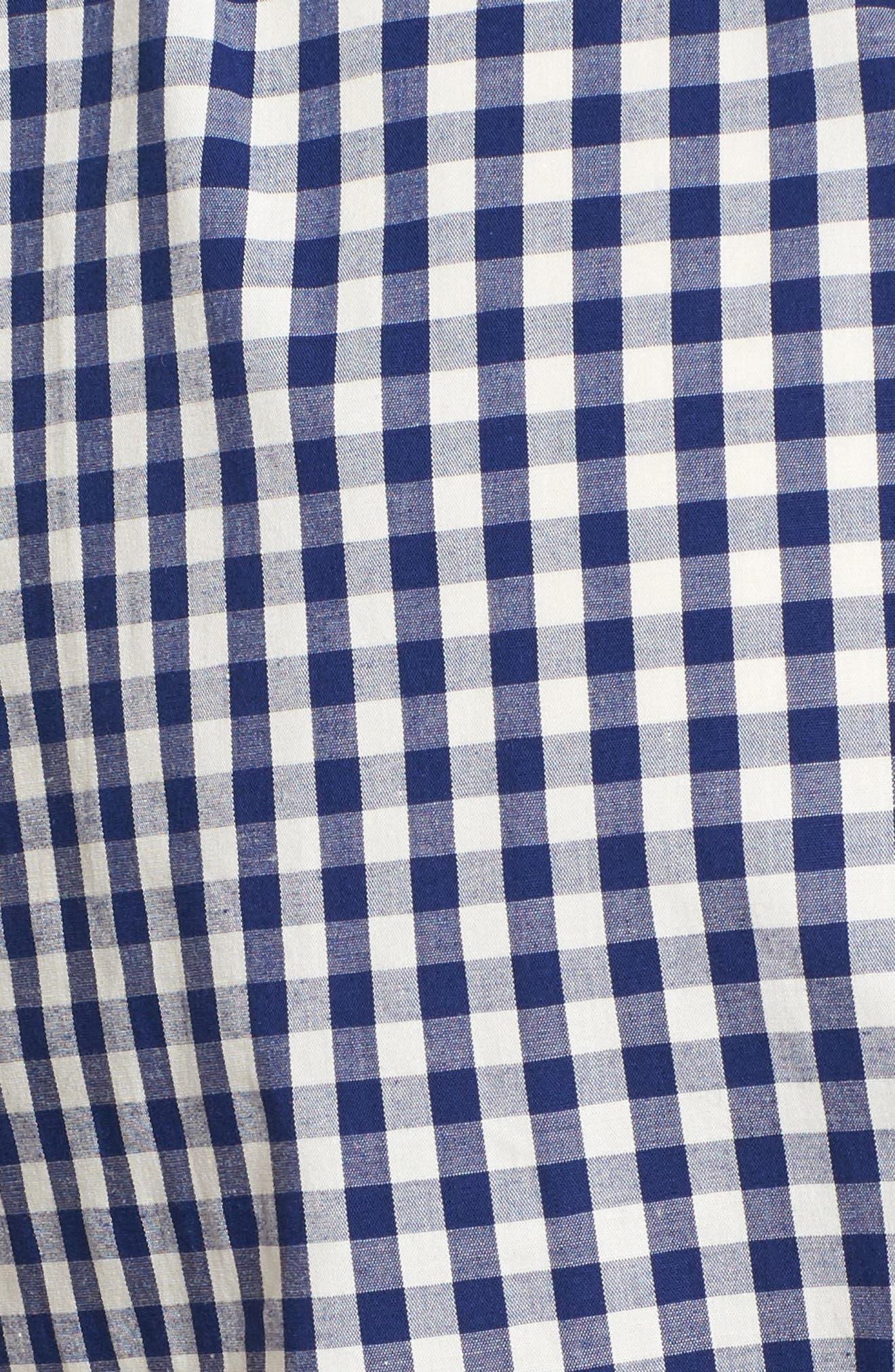 Alternate Image 5  - Isabella Oliver Lindsay Check Maternity Shirt