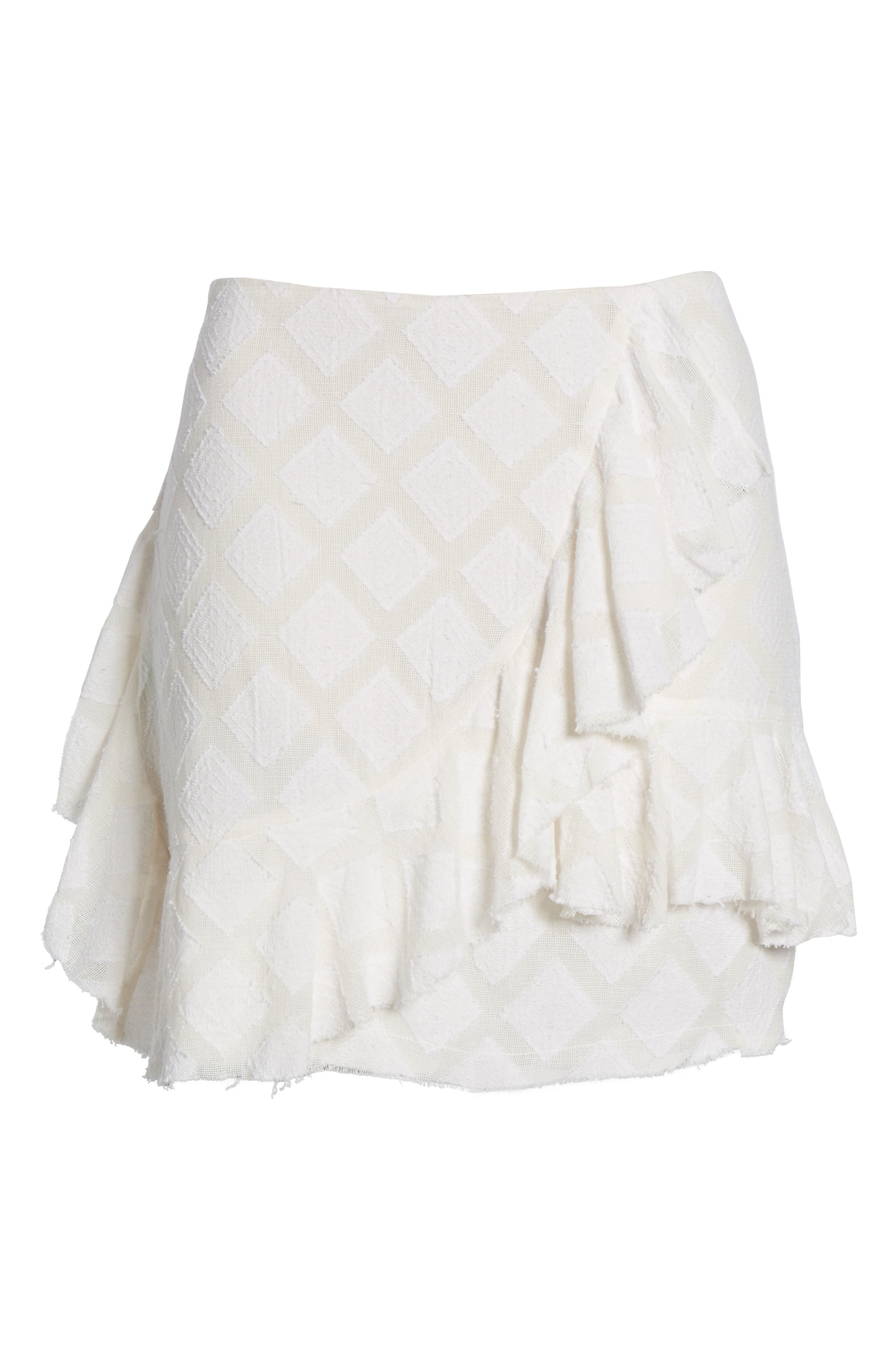 Hannah Ruffle Skirt,                             Alternate thumbnail 7, color,                             Ivory