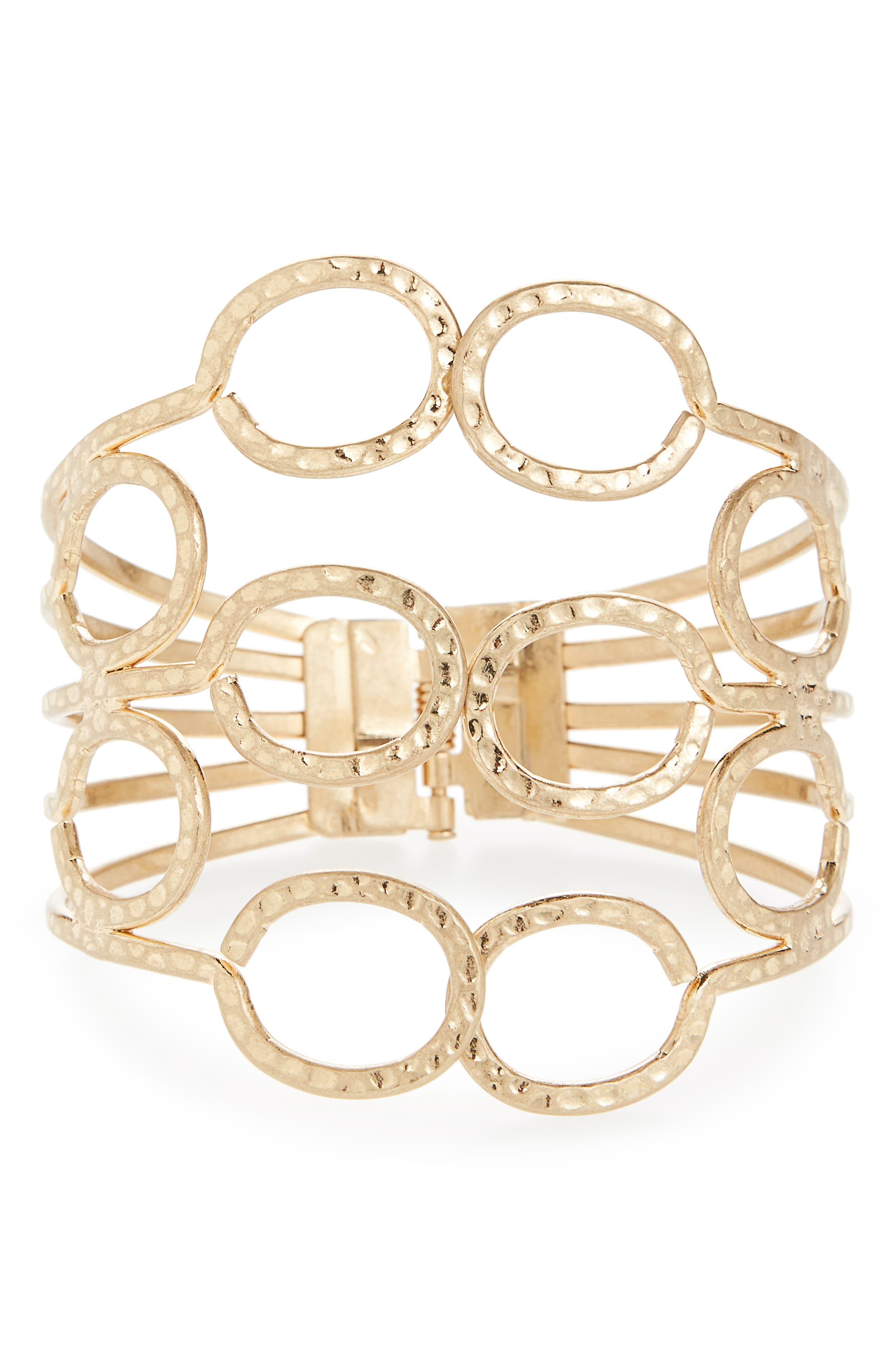 Canvas Large Hinged Cuff Bracelet