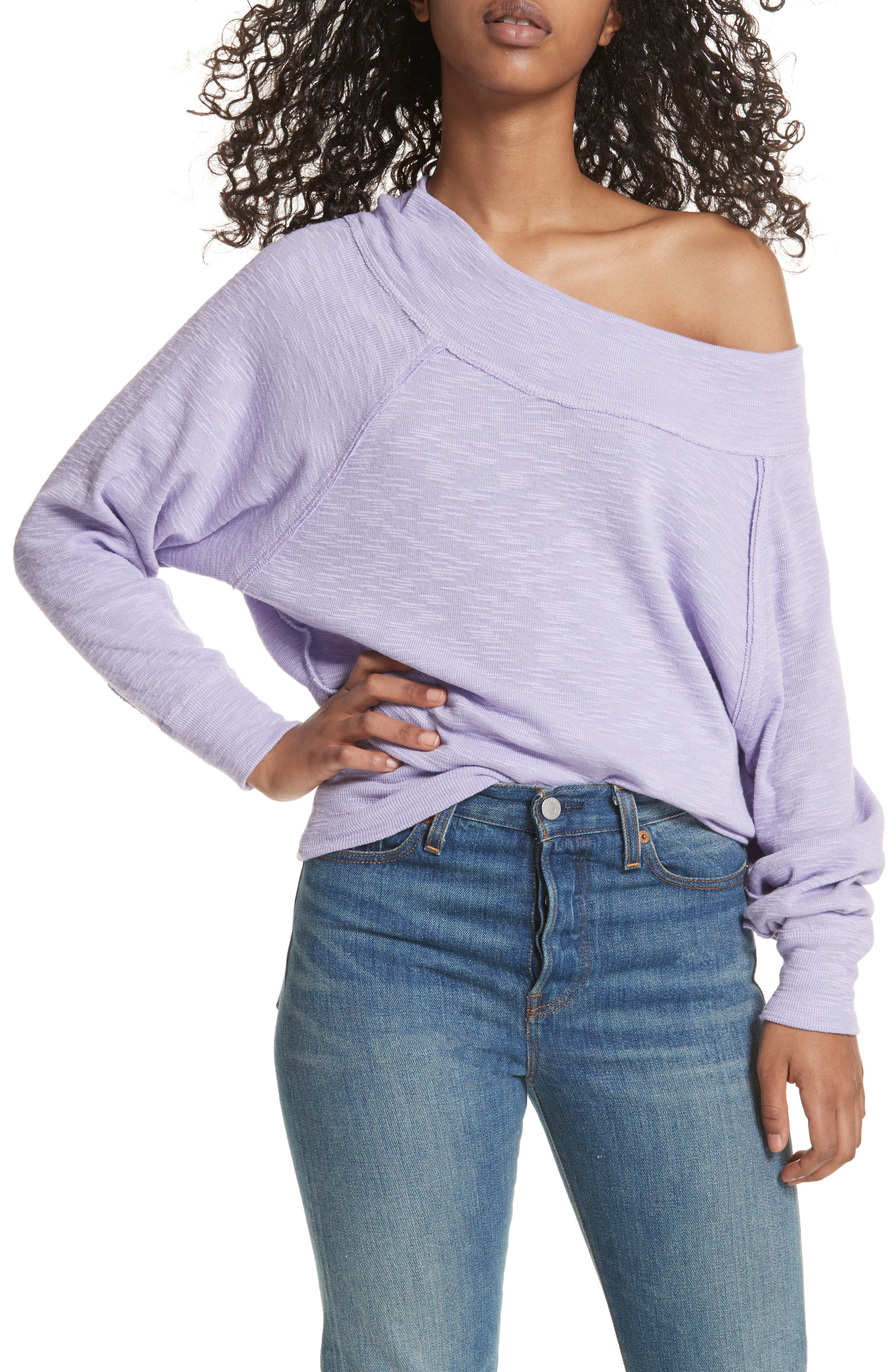 Palisades Off the Shoulder Top,                         Main,                         color, Lilac