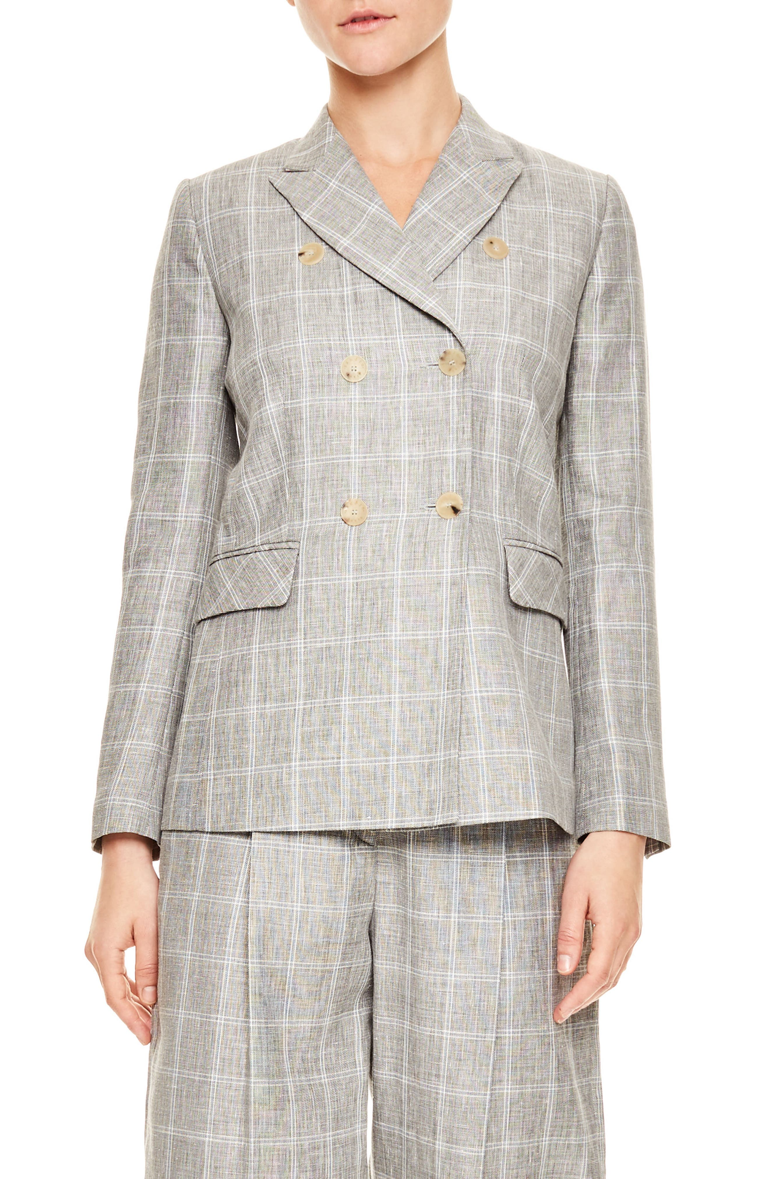 Gris Double Breasted Jacket,                             Main thumbnail 1, color,                             Grey